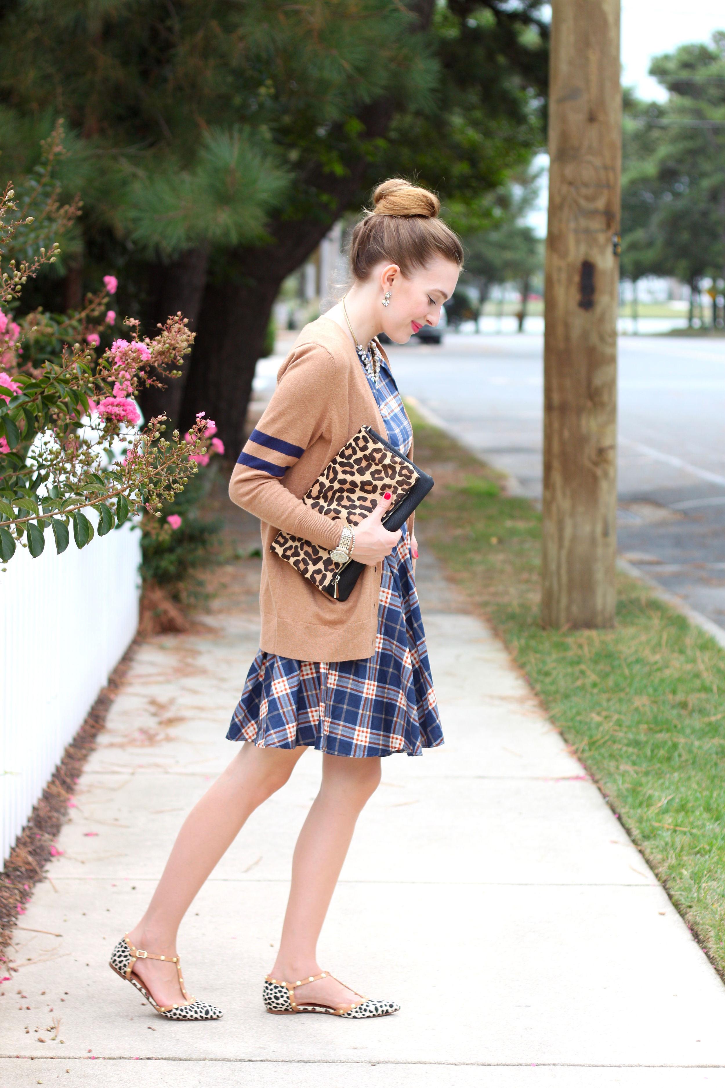 Plaid Dress- Enchanting Elegance