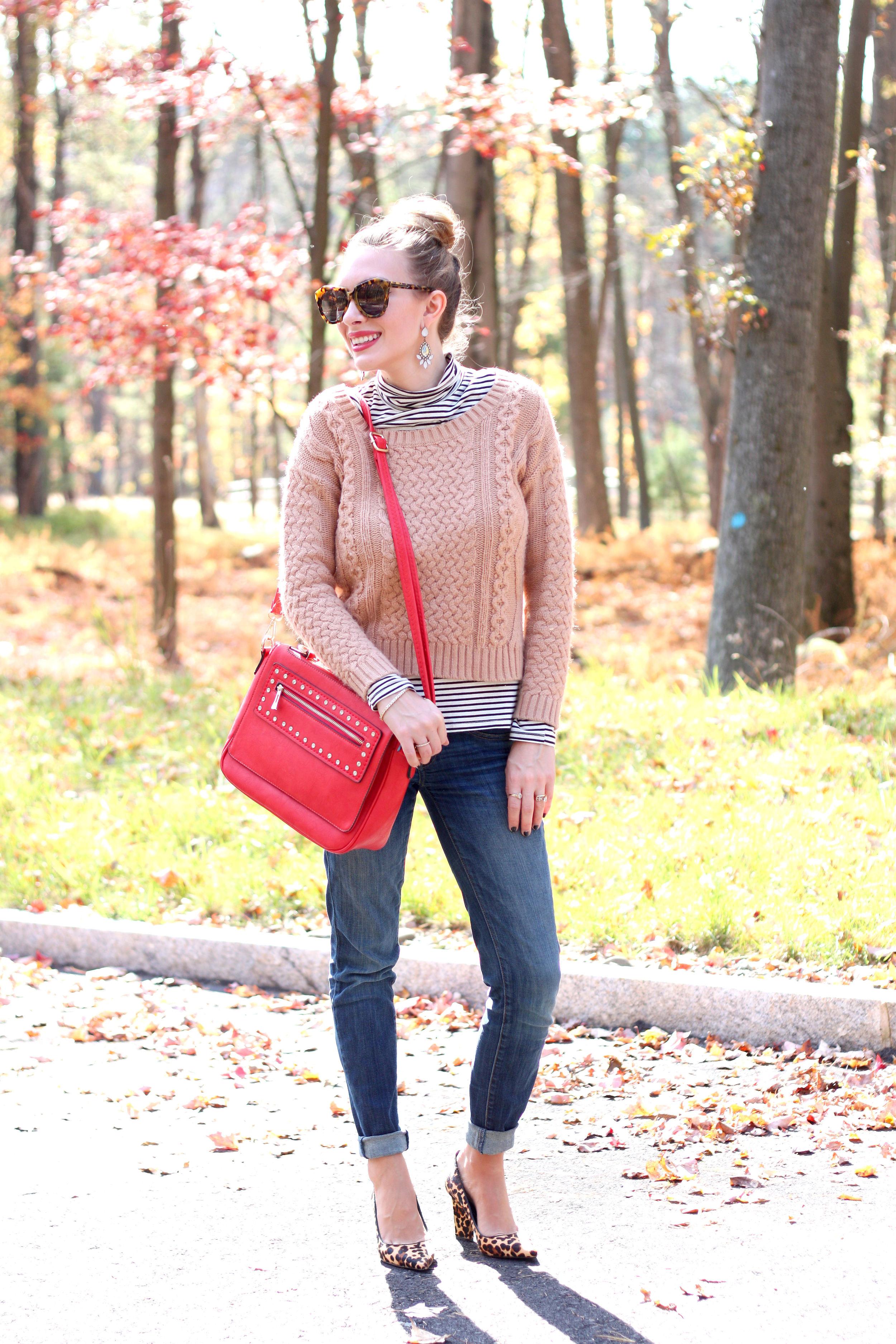 Camel and Stripes- Enchanting Elegance