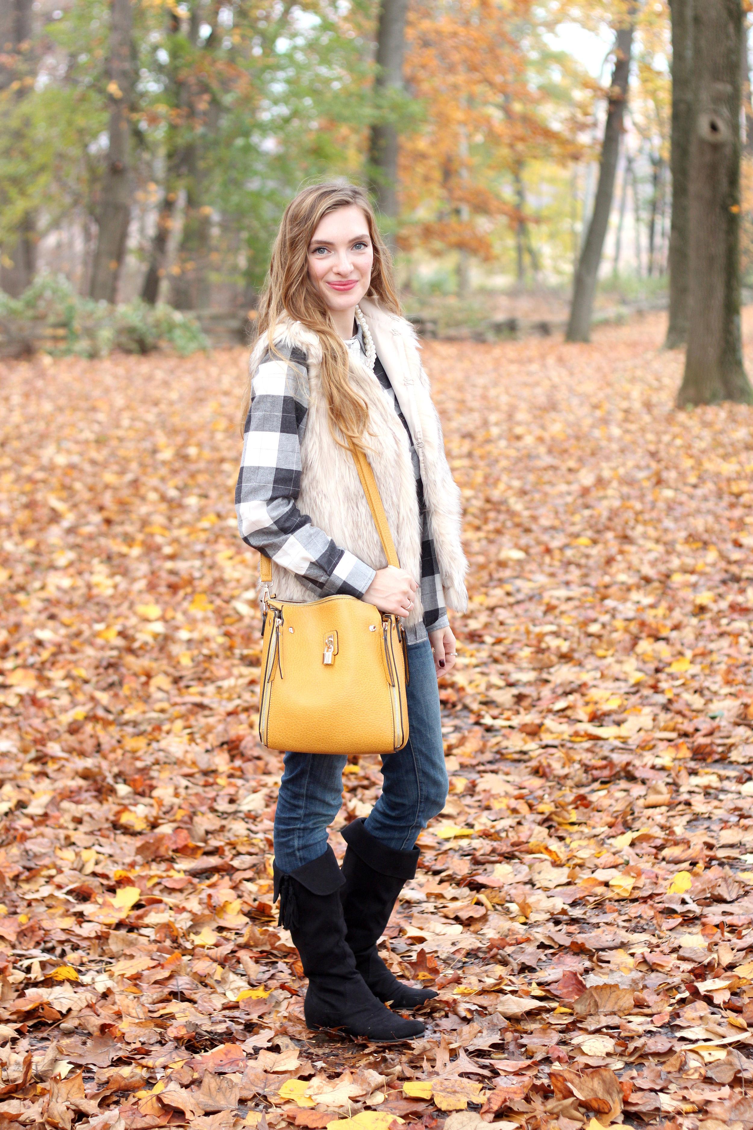 Plaid, Fur, and Sparkle- Enchanting Elegance