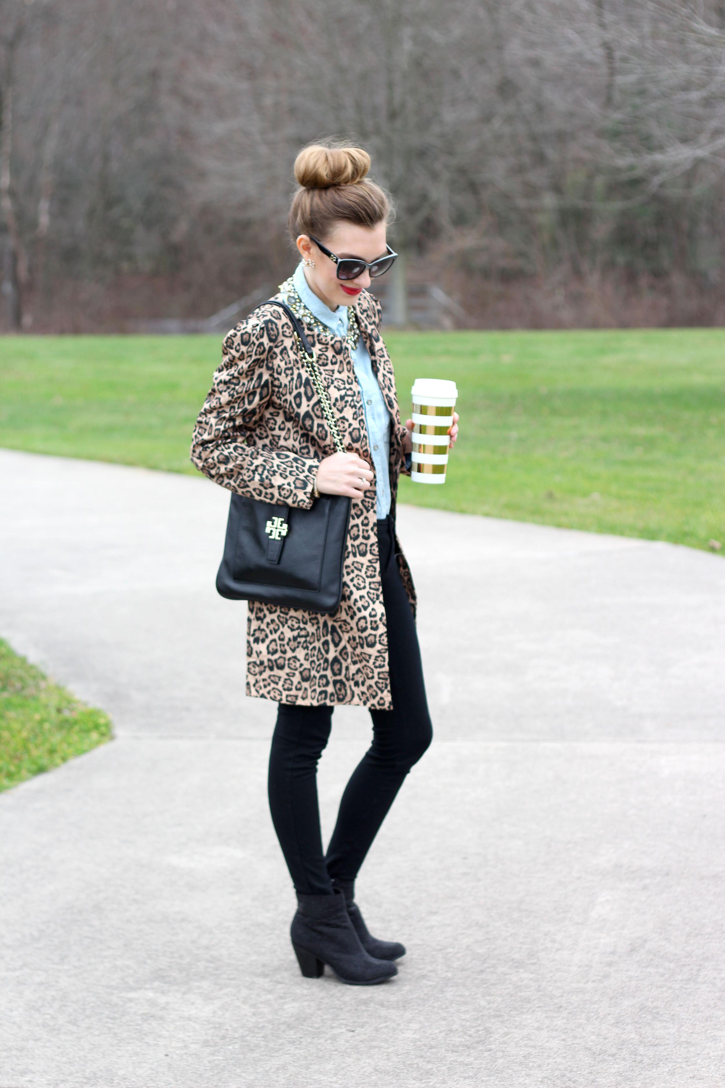 Leopard Coat & Statement Necklace- Enchanting Elegance