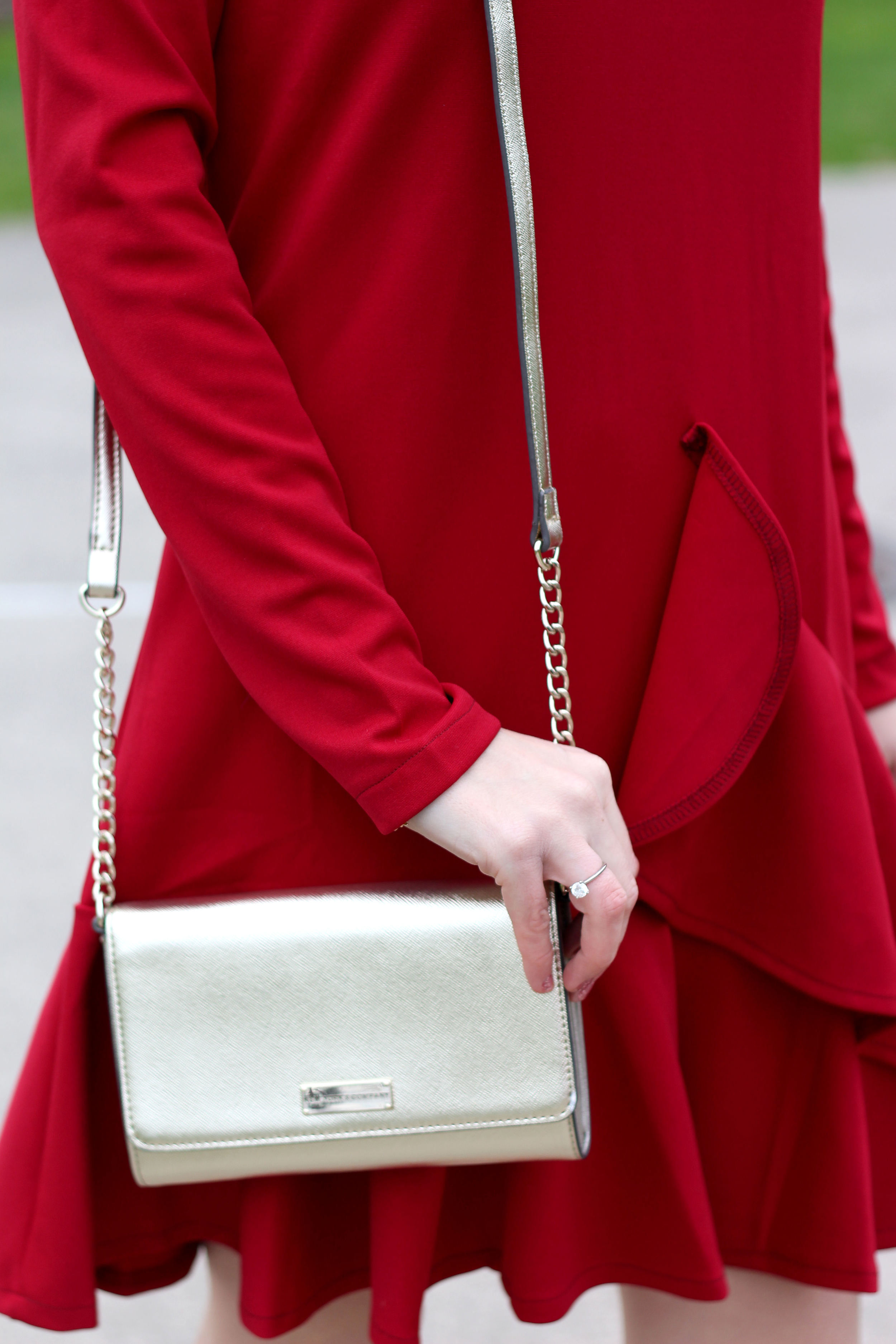Red Dress & Statement Necklace- Enchanting Elegance