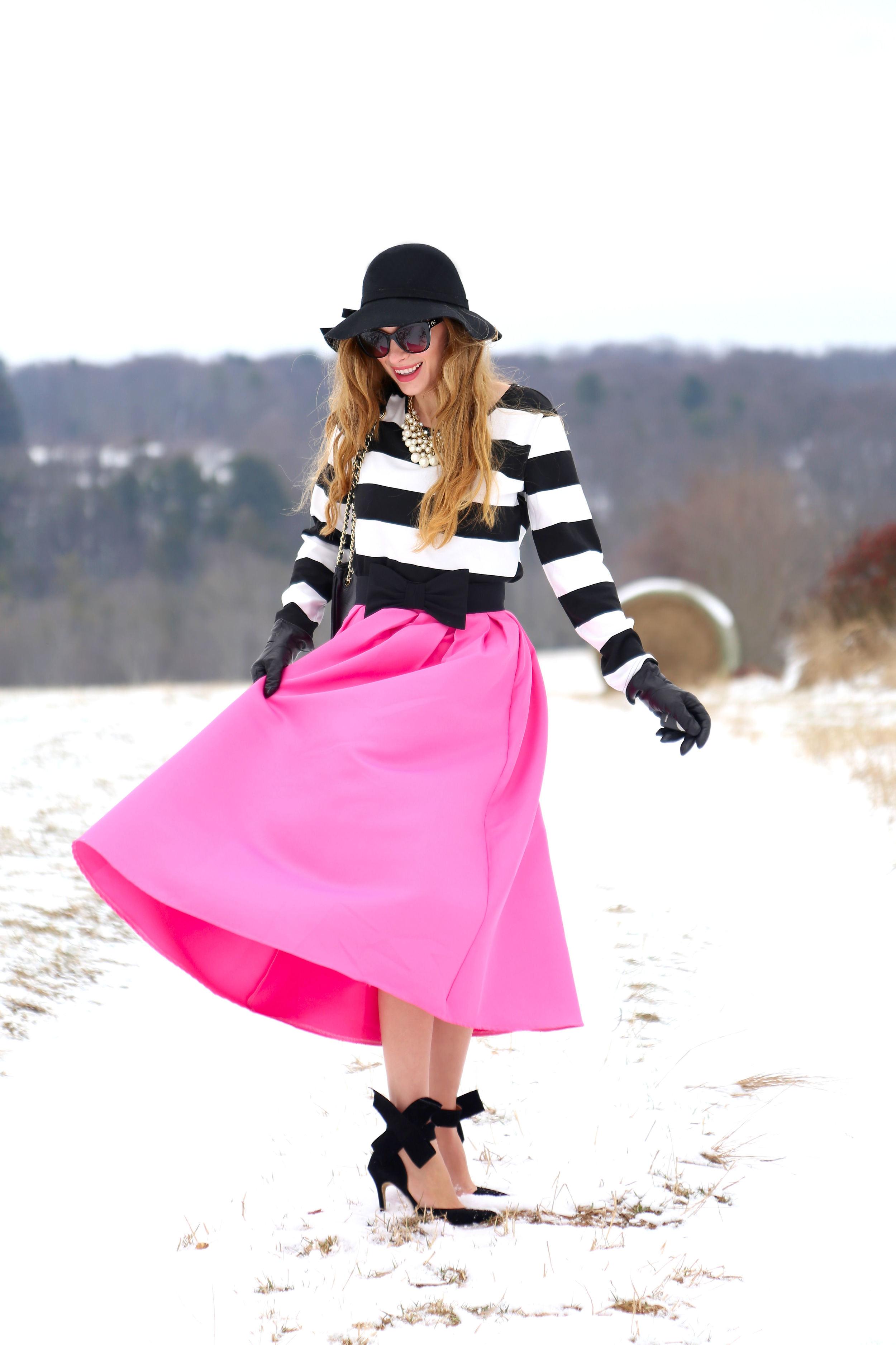 Stripes + Pink- Enchanting Elegance