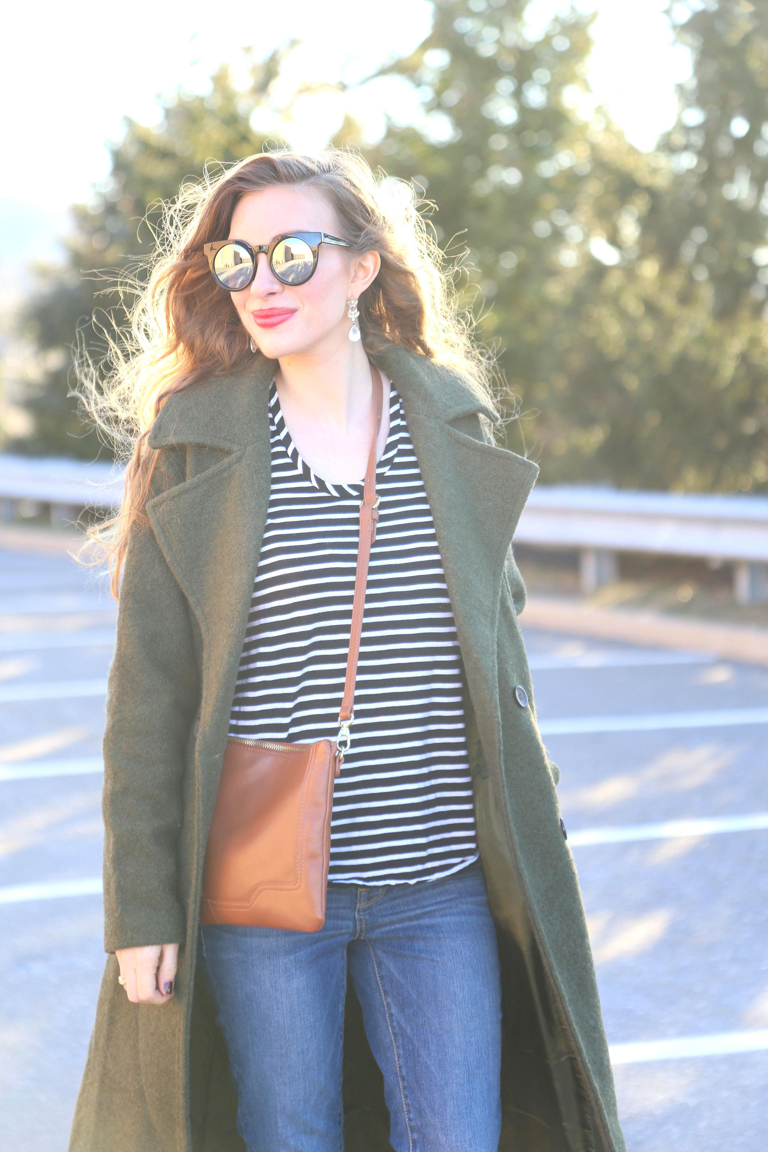 Army Green Coat- Enchanting Elegance