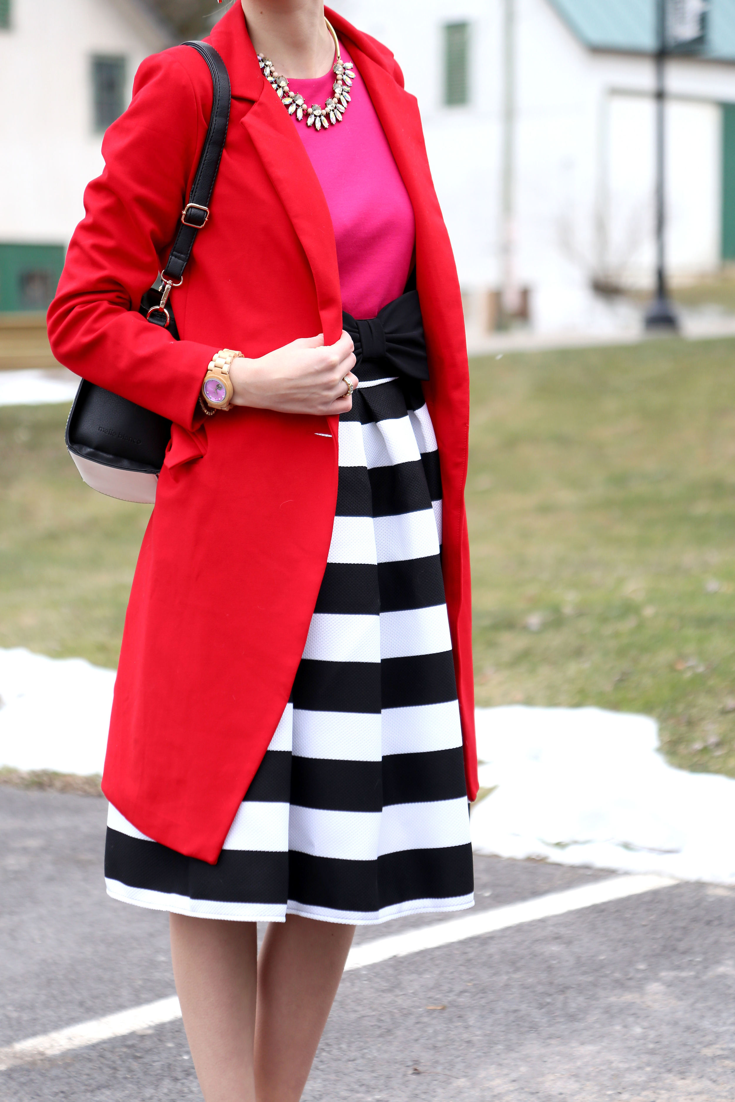 Pink x Red x Stripes- Enchanting Elegance