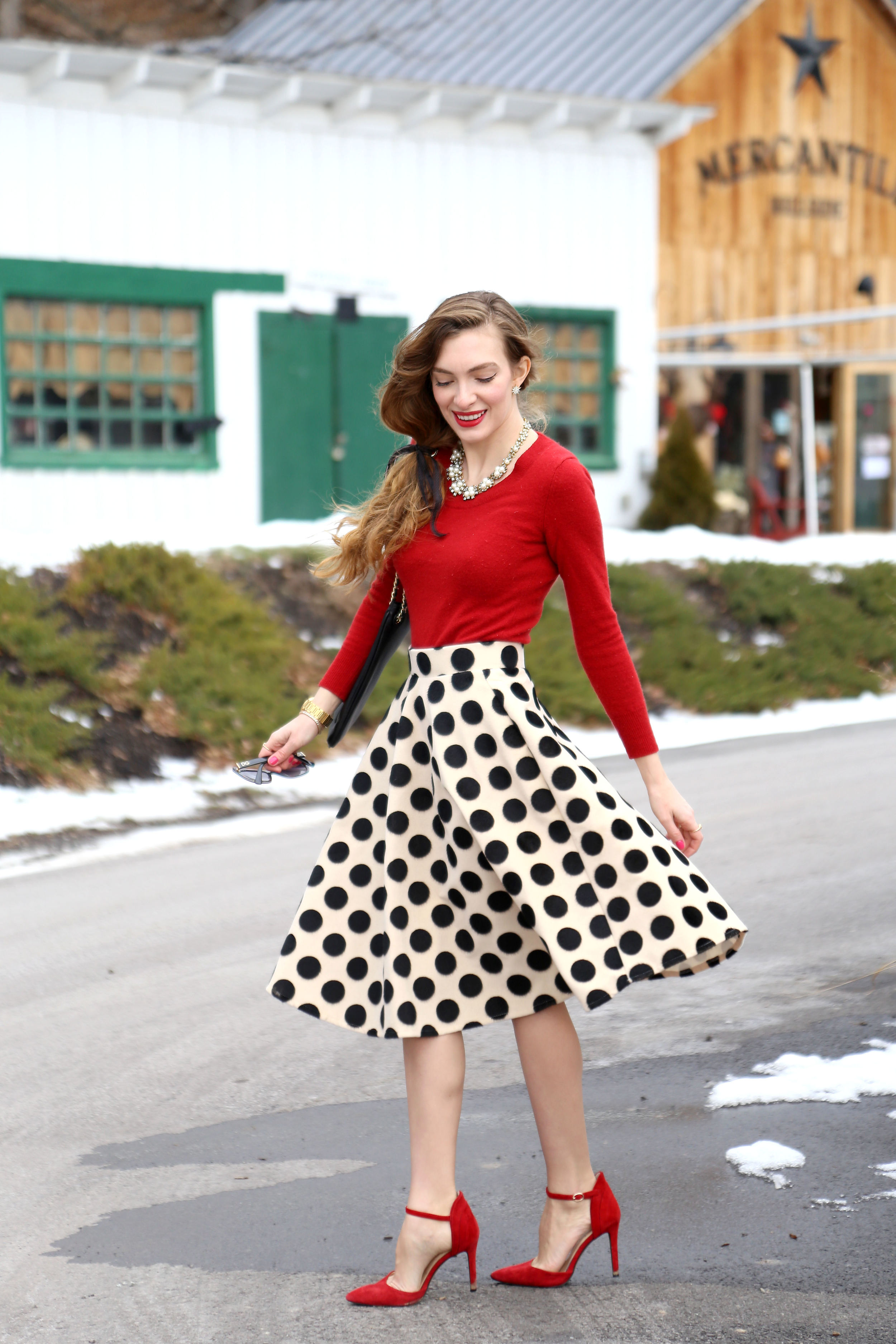 Pretty In Polka Dots- Enchanting Elegance