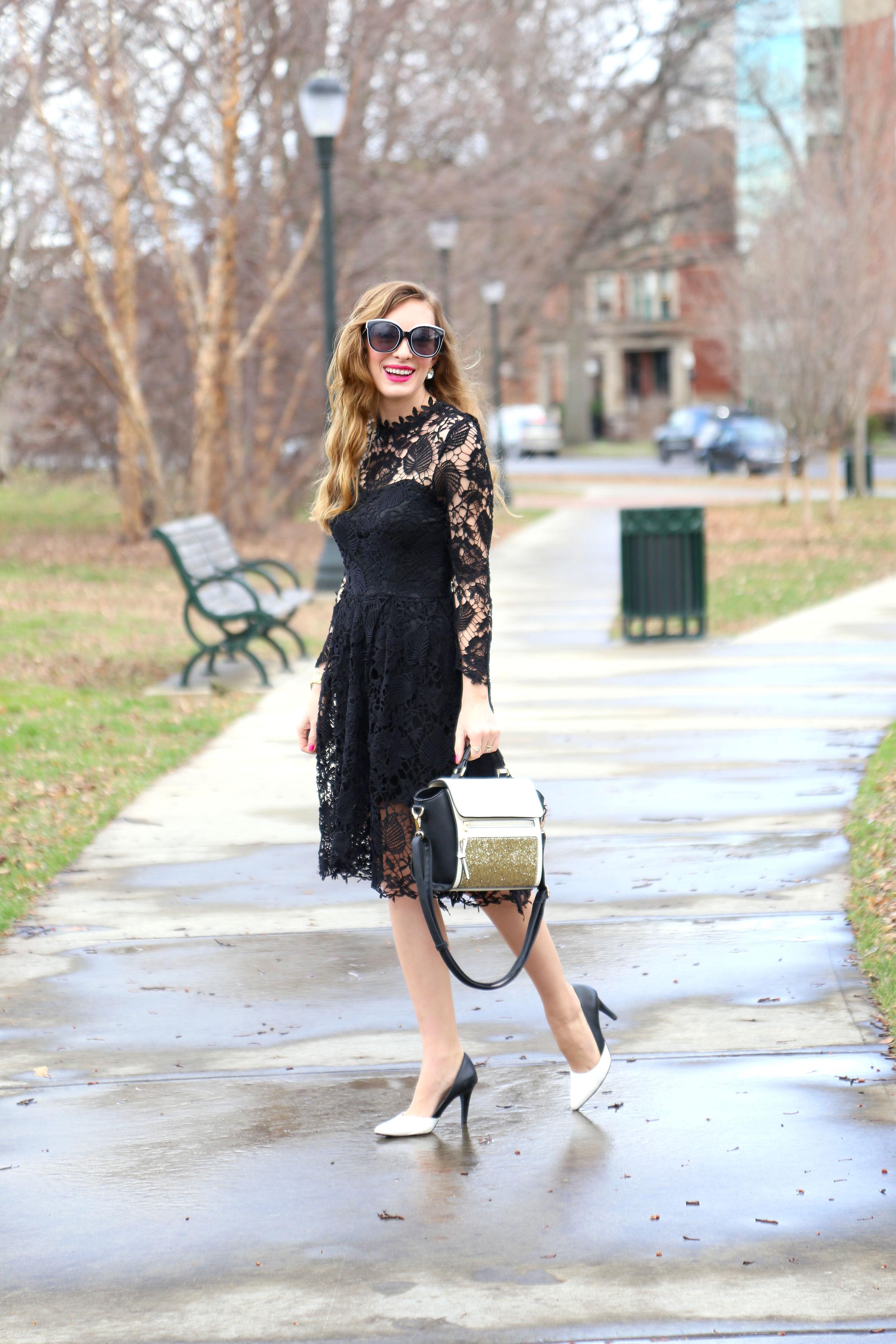 Black Lace Dress- Enchanting Elegance