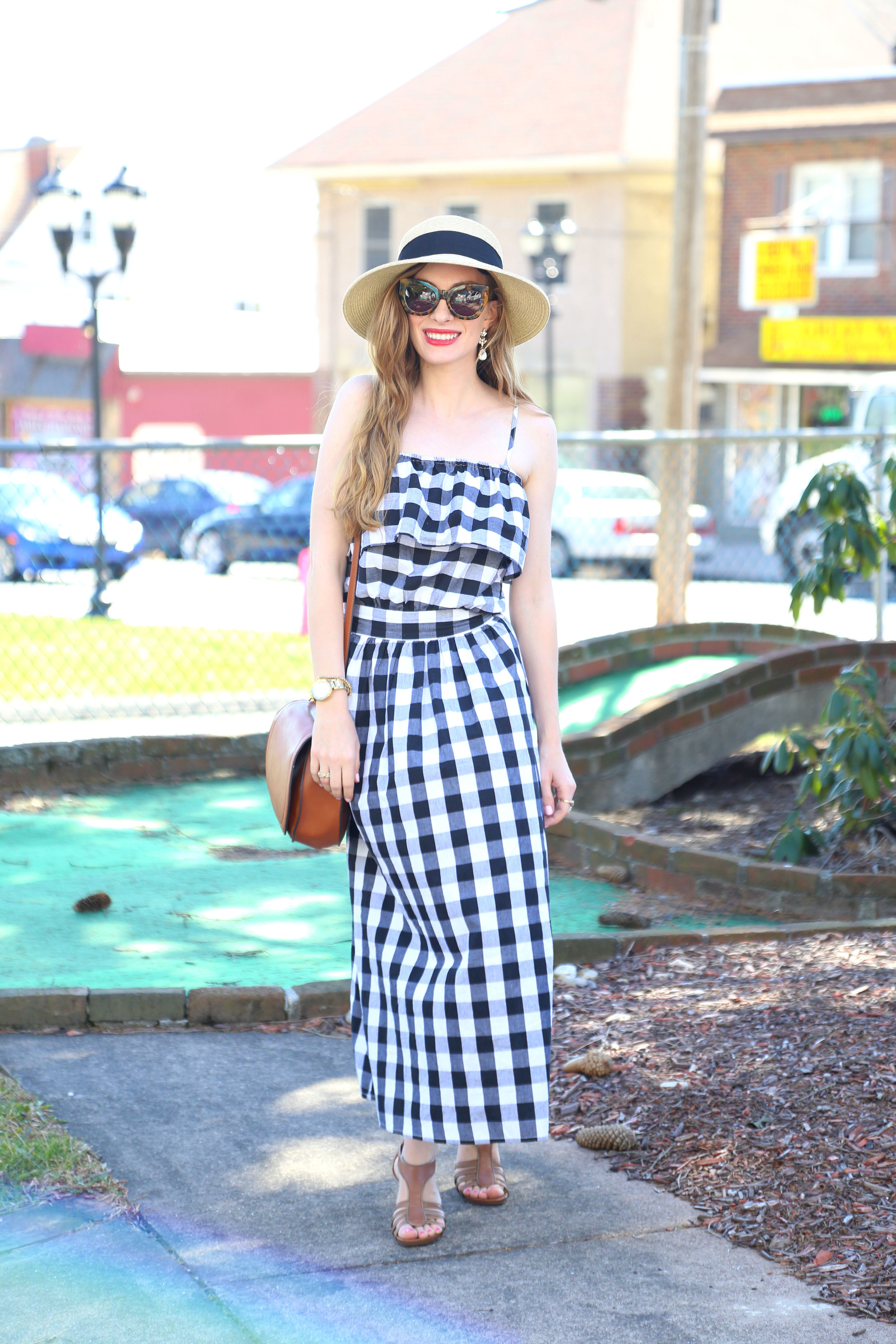 Gingham Dress- Enchanting Elegance
