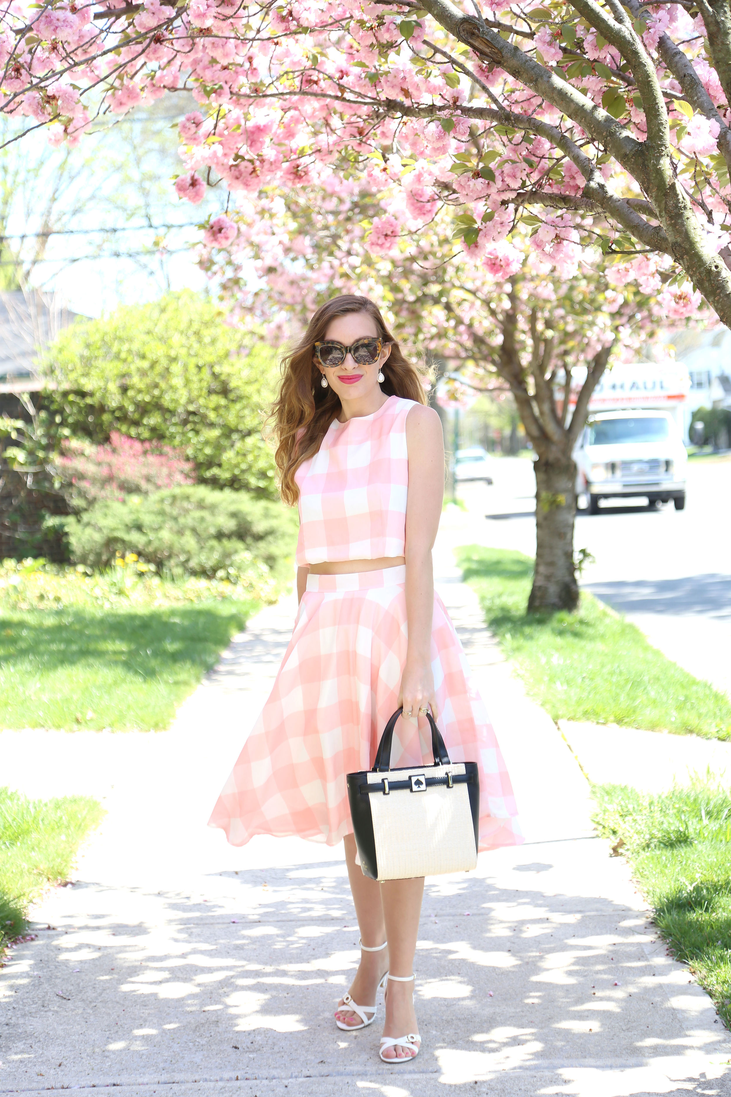 Pink Gingham- Enchanting Elegance