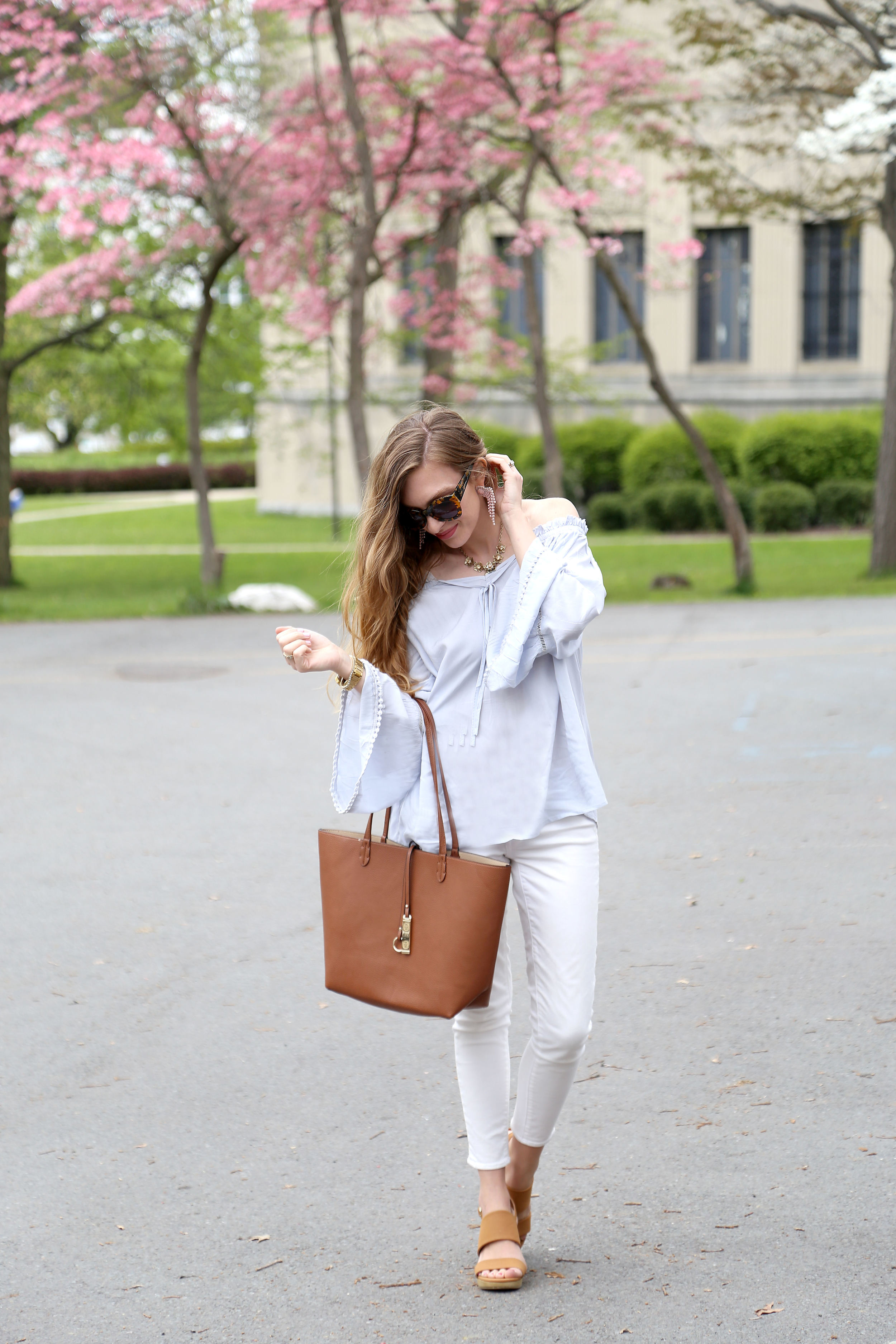 Bell Sleeves + Tote Bag- Enchanting Elegance