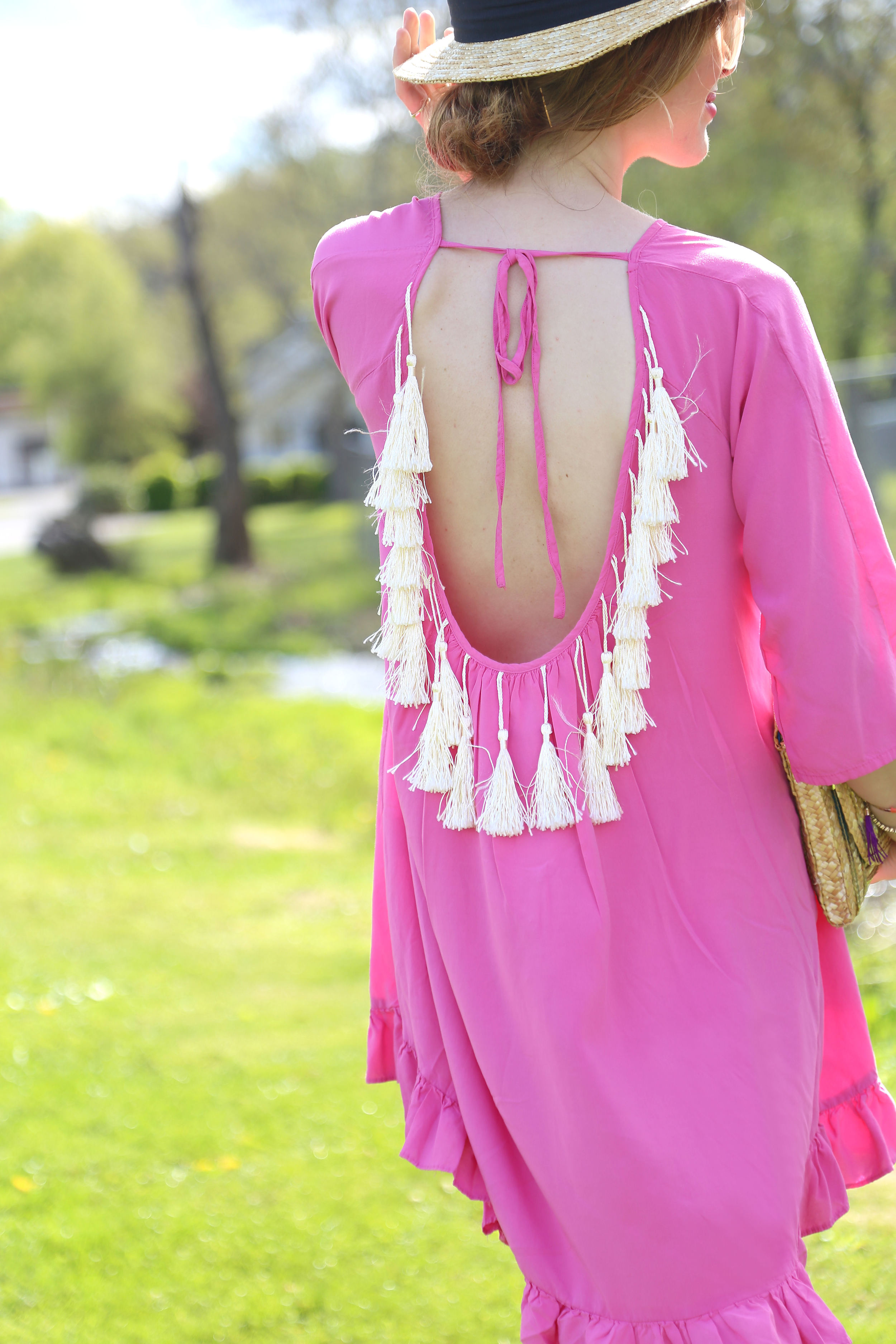Fringe Backless Dress- Enchanting Elegance