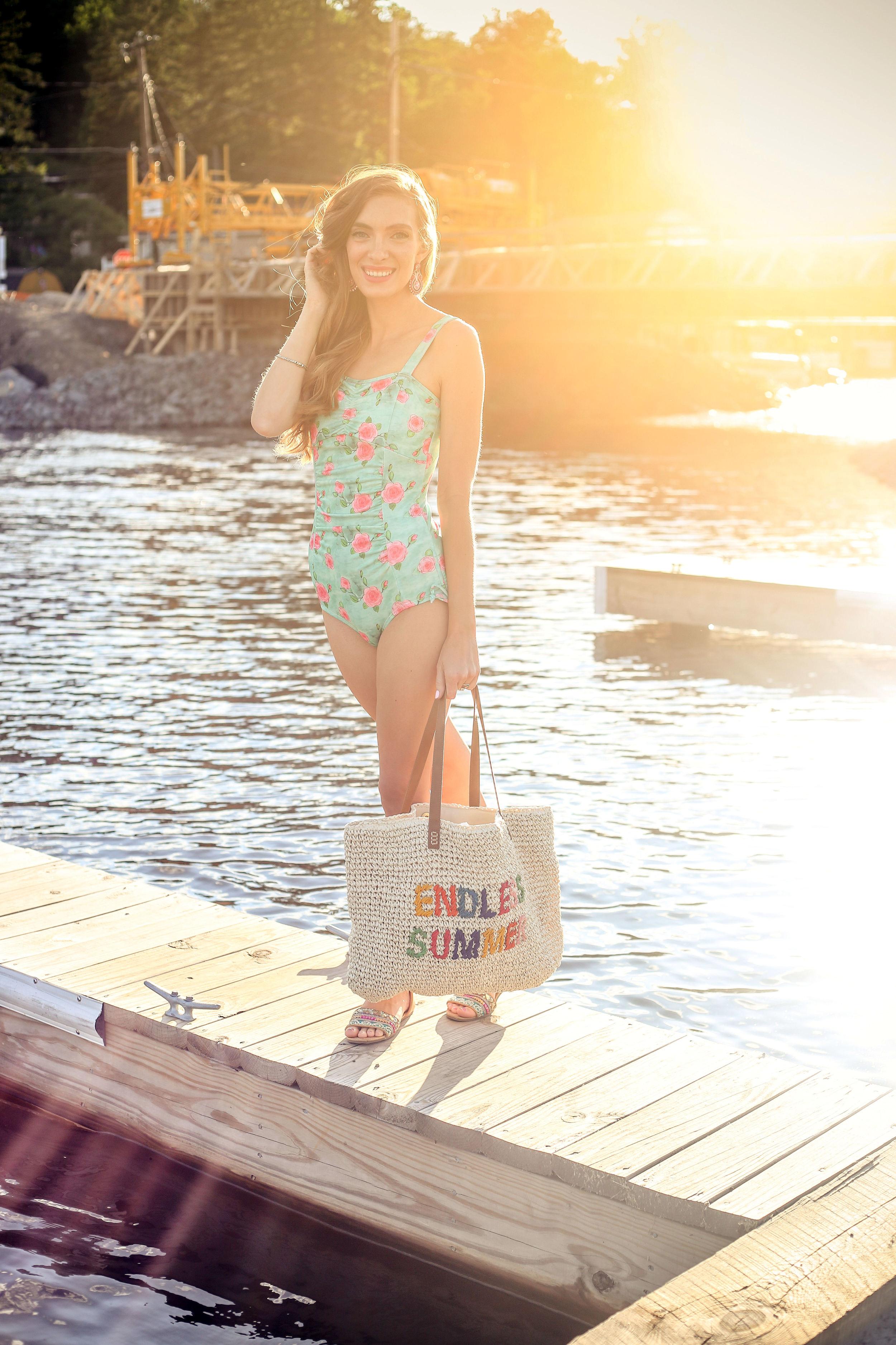 Mint Swim Suit- Enchanting Elegance