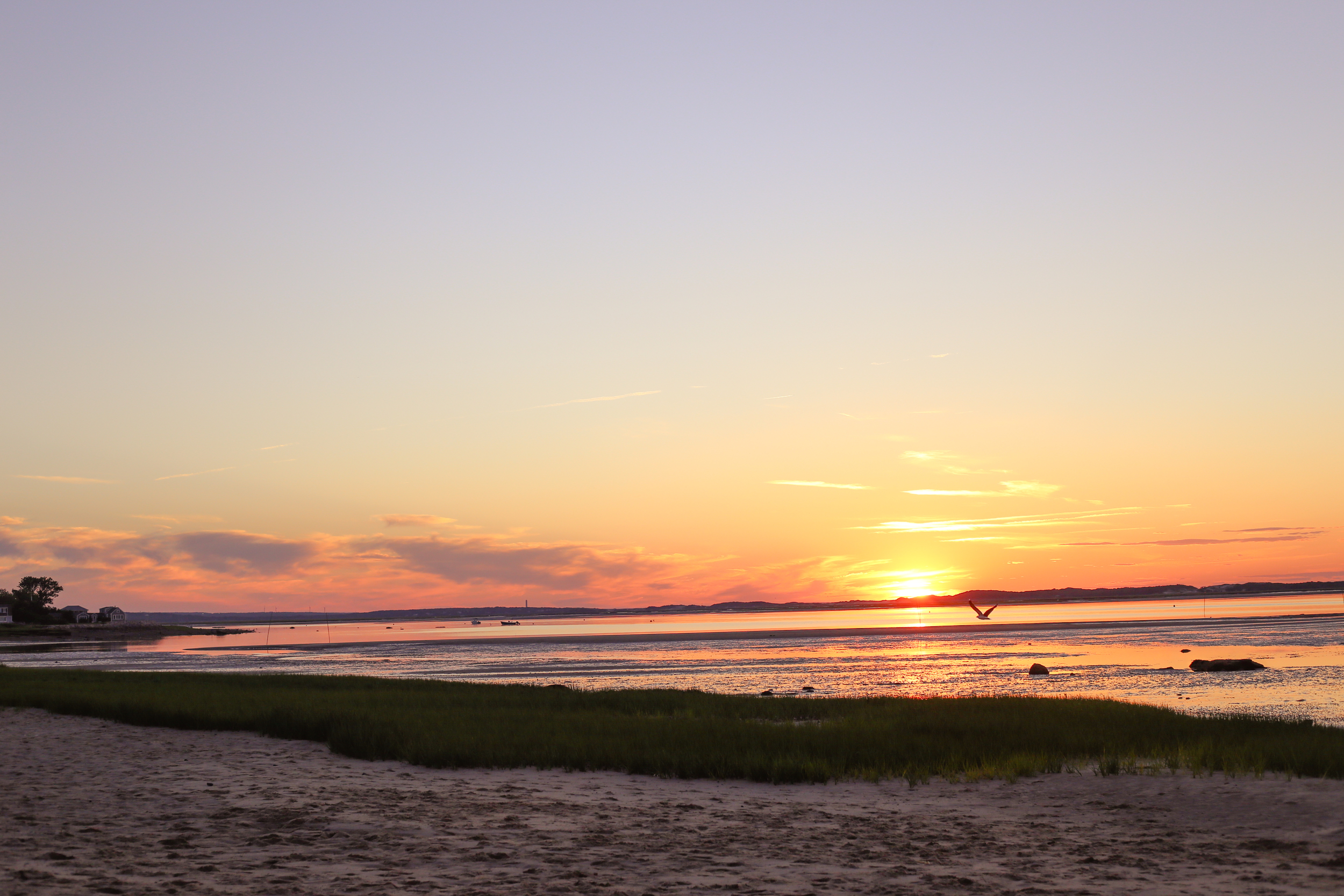 Sunset at Barnstable Bay- Enchanting Elegance
