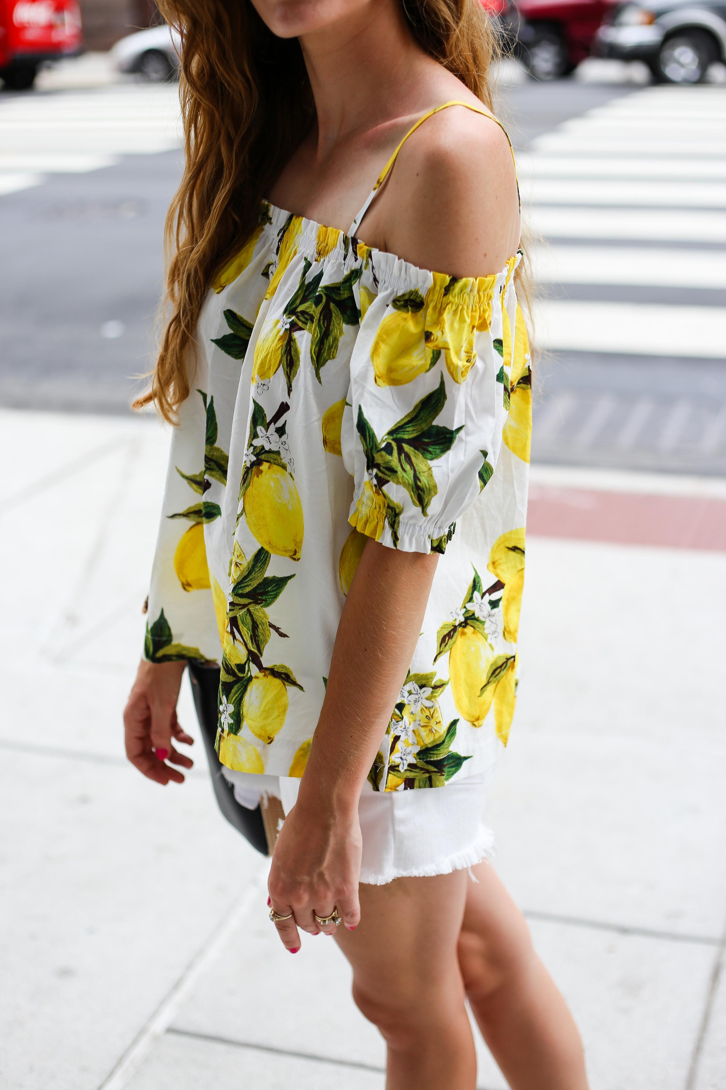 Cold Shoulder Lemon Top- Enchanting Elegance