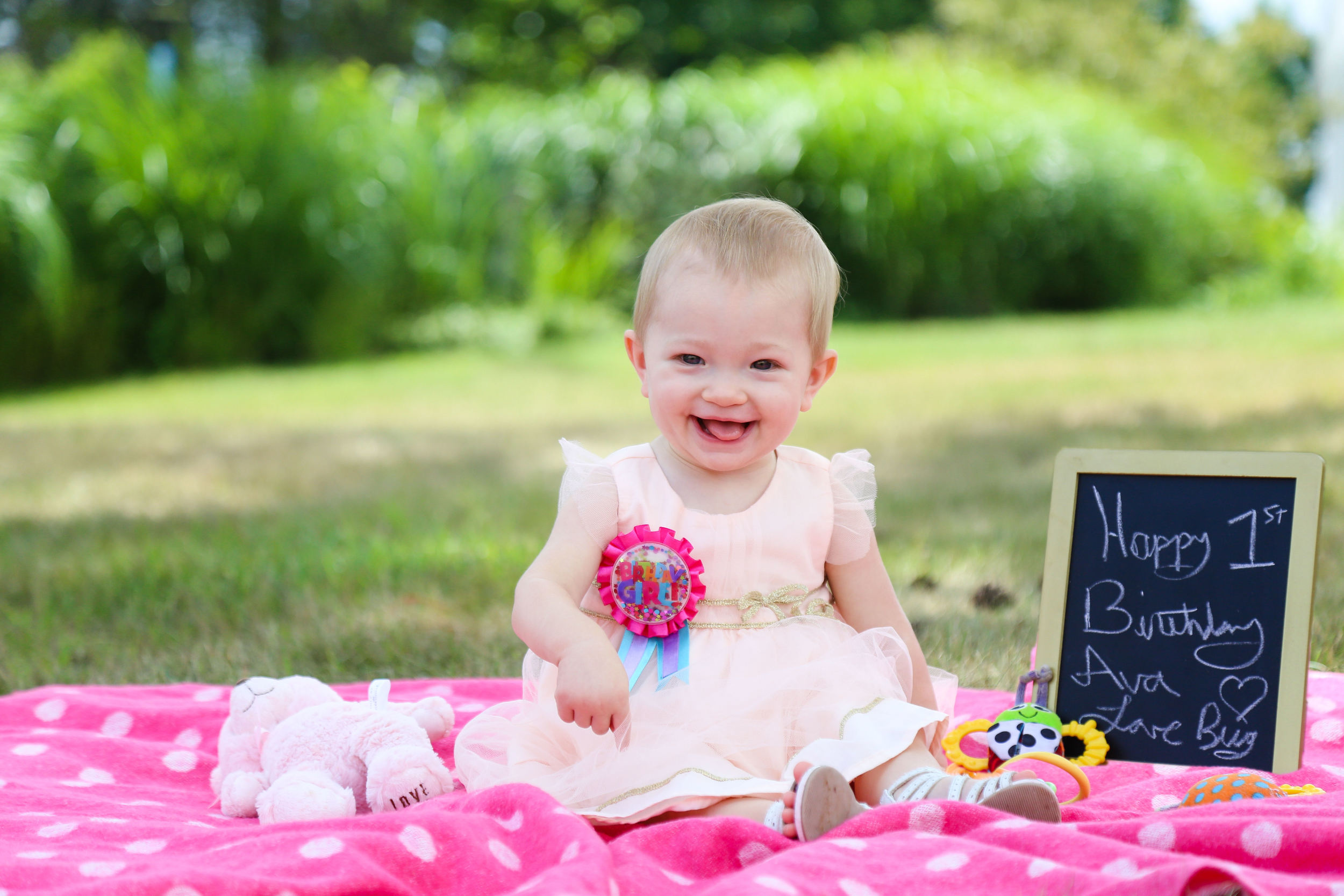 Happy 1st Birthday Ava!- Enchanting Elegance