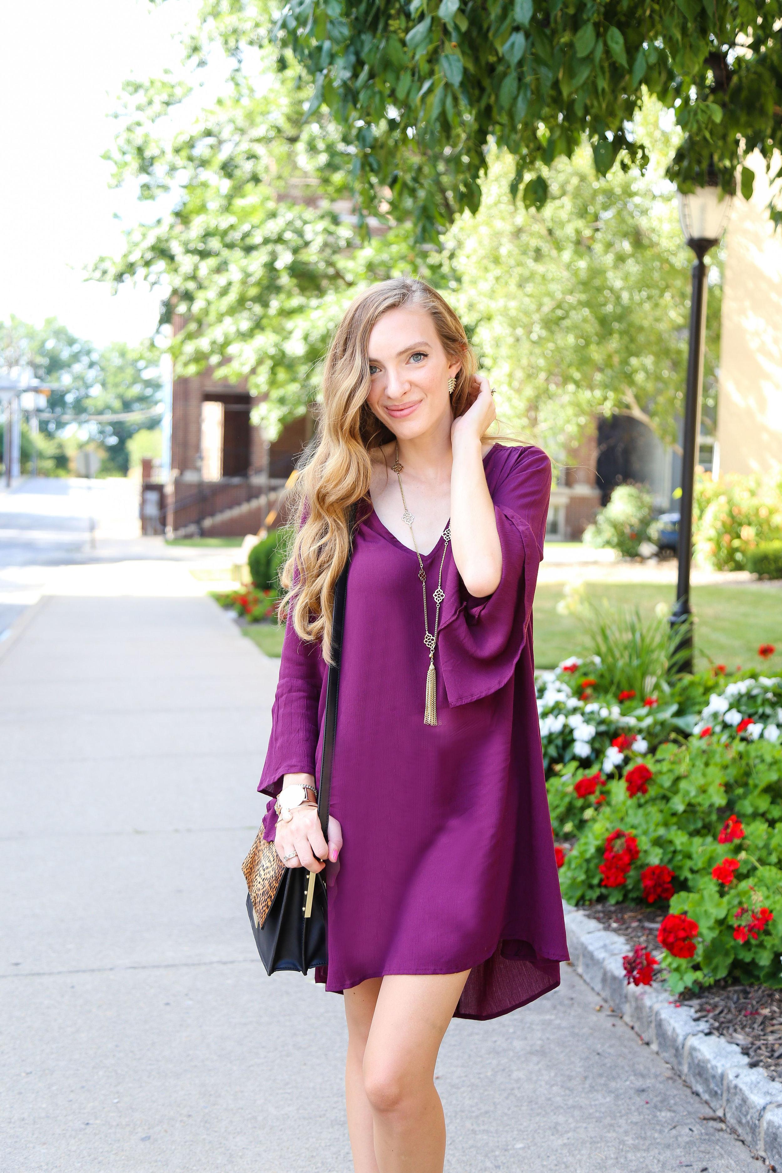 Bell Sleeve Dress- Enchanting Elegance