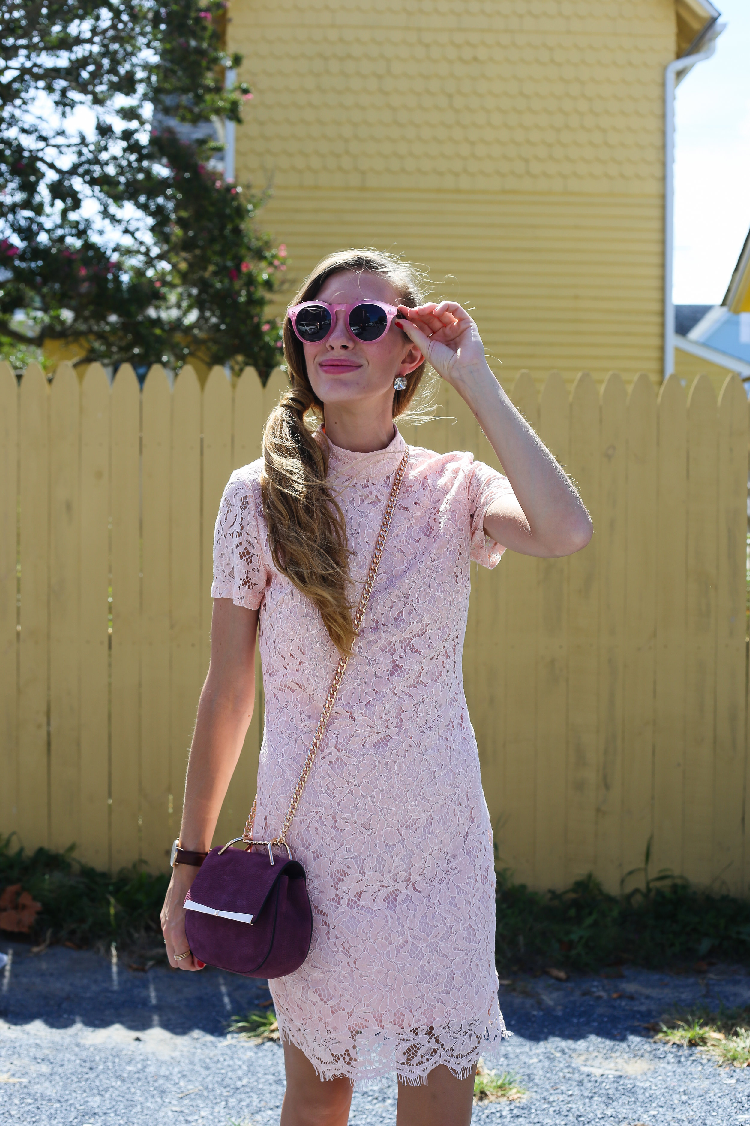 Pink Lace Dress- Encahnting Elegance