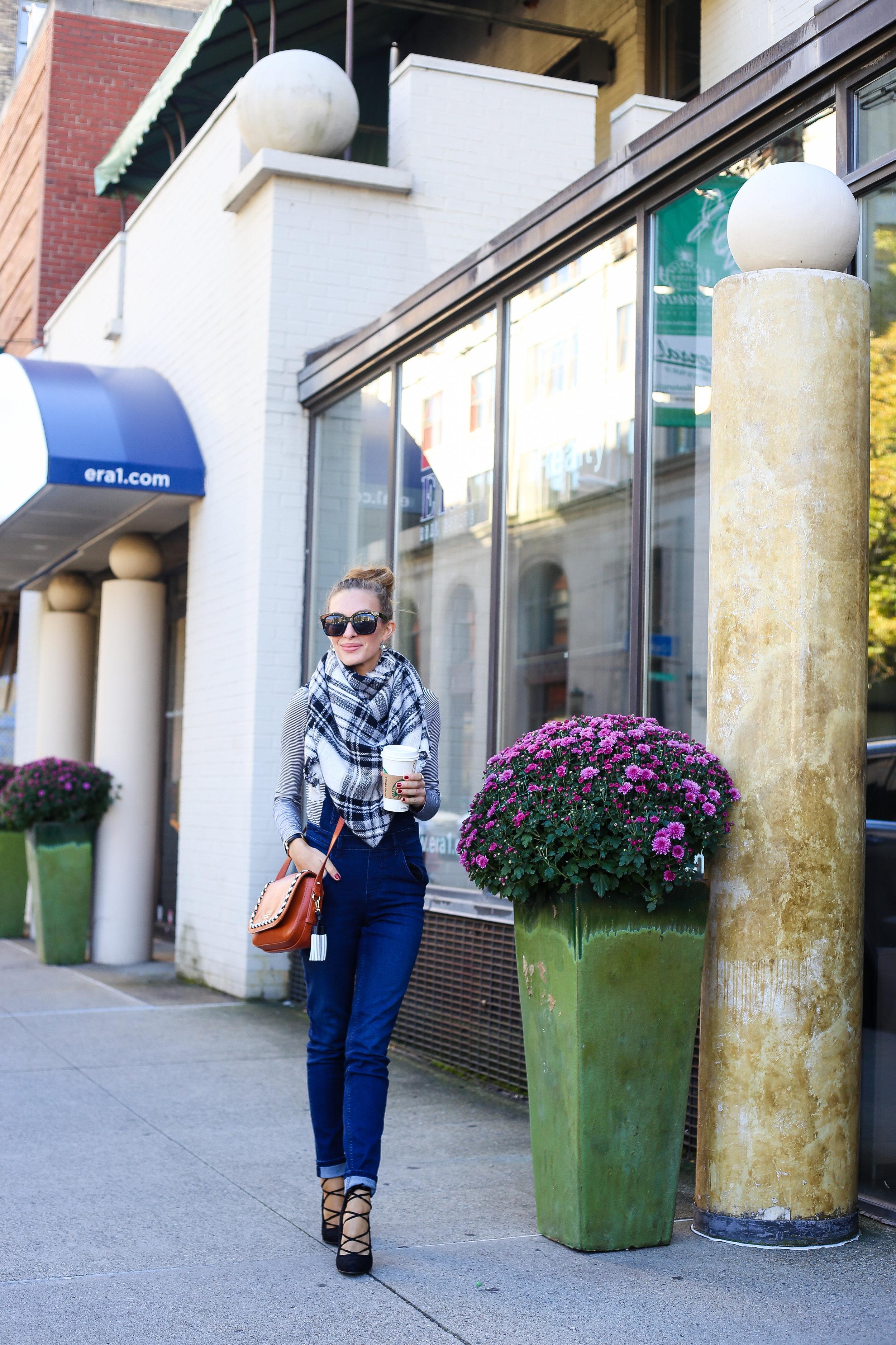 Stripes and Overalls- Enchanting Elegance