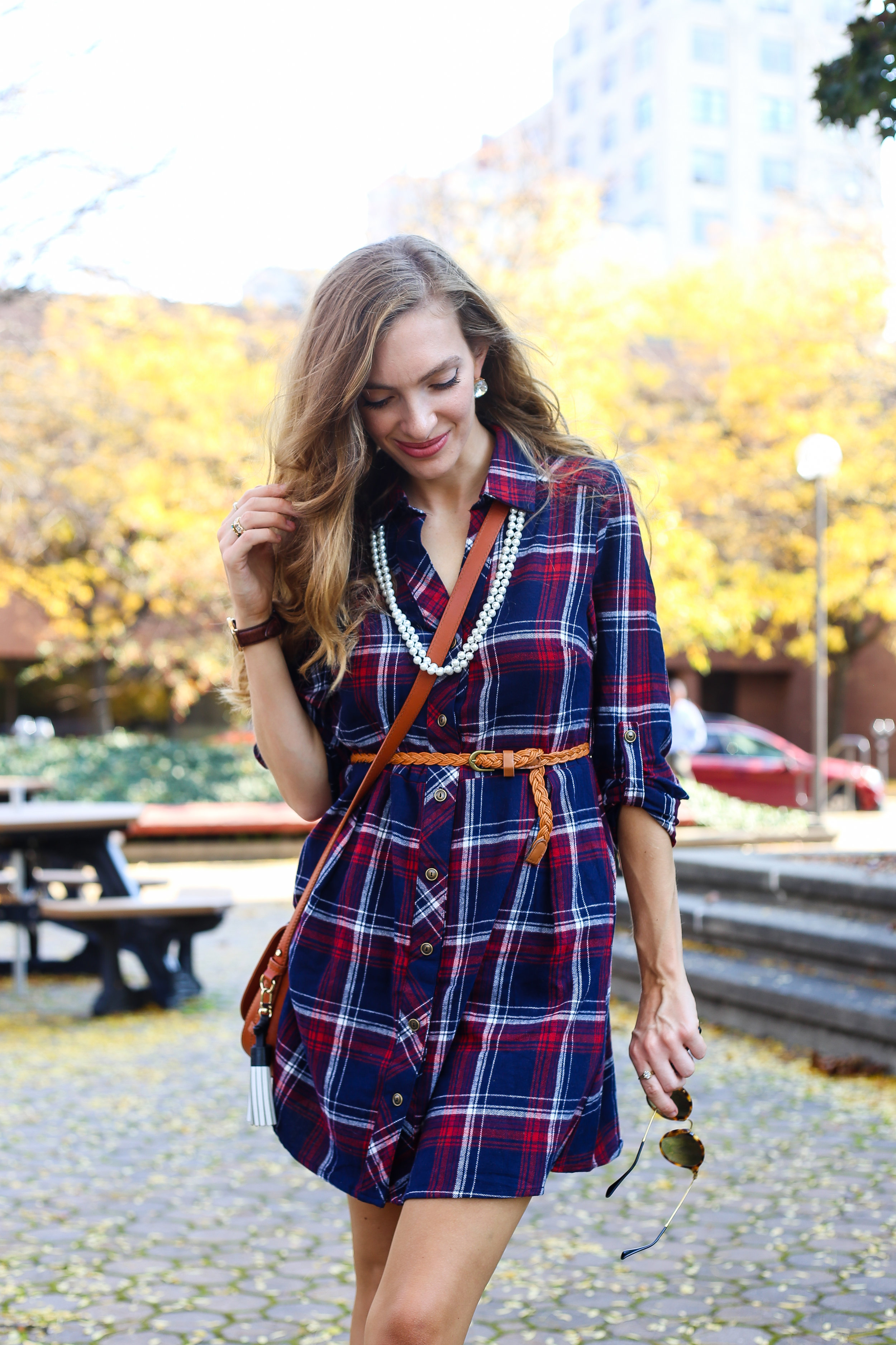 Plaid and Pearls- Enchanting Elegance