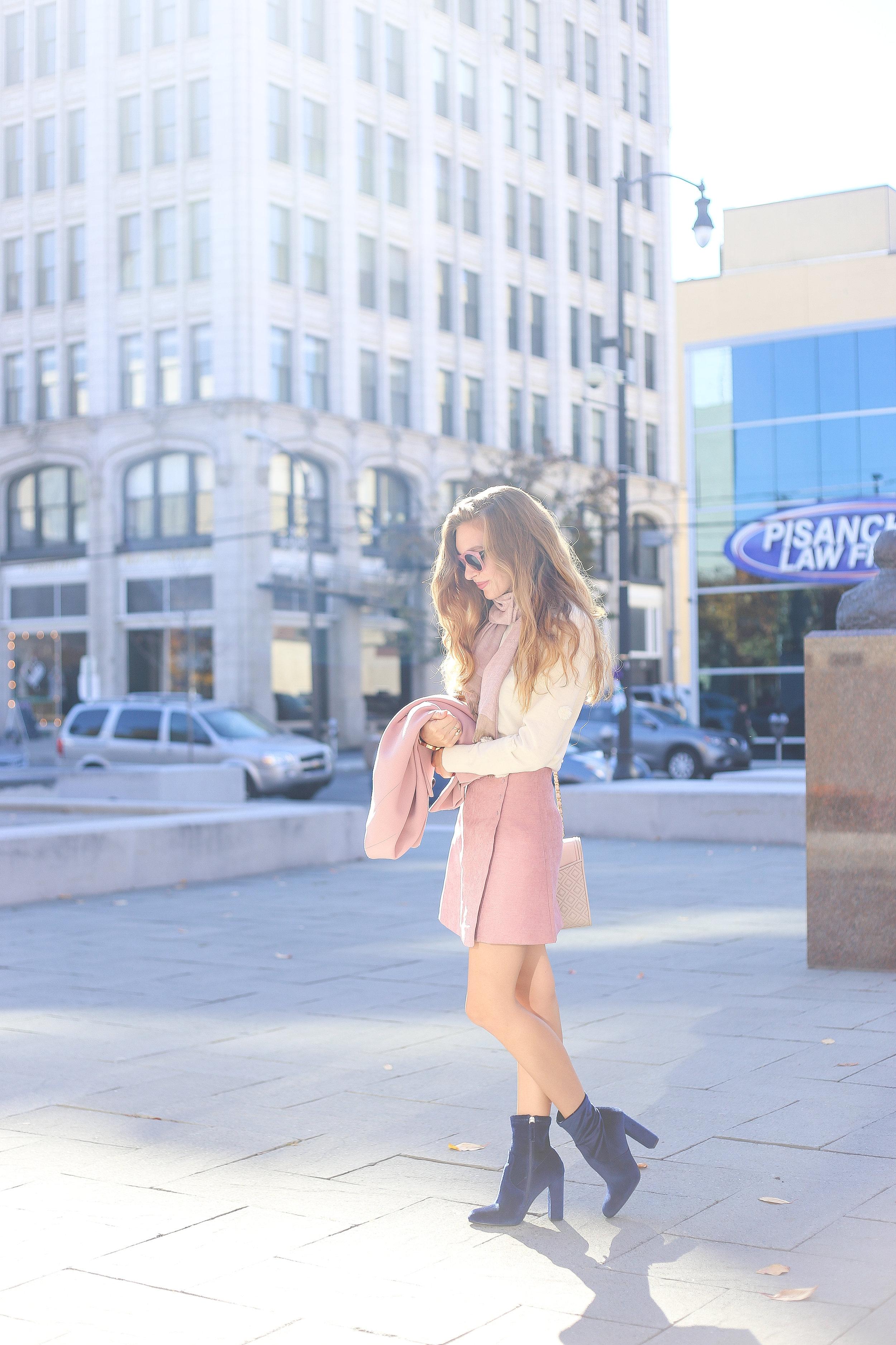 Pink Lady // Blue Suede Shoes- Enchanting Elegance