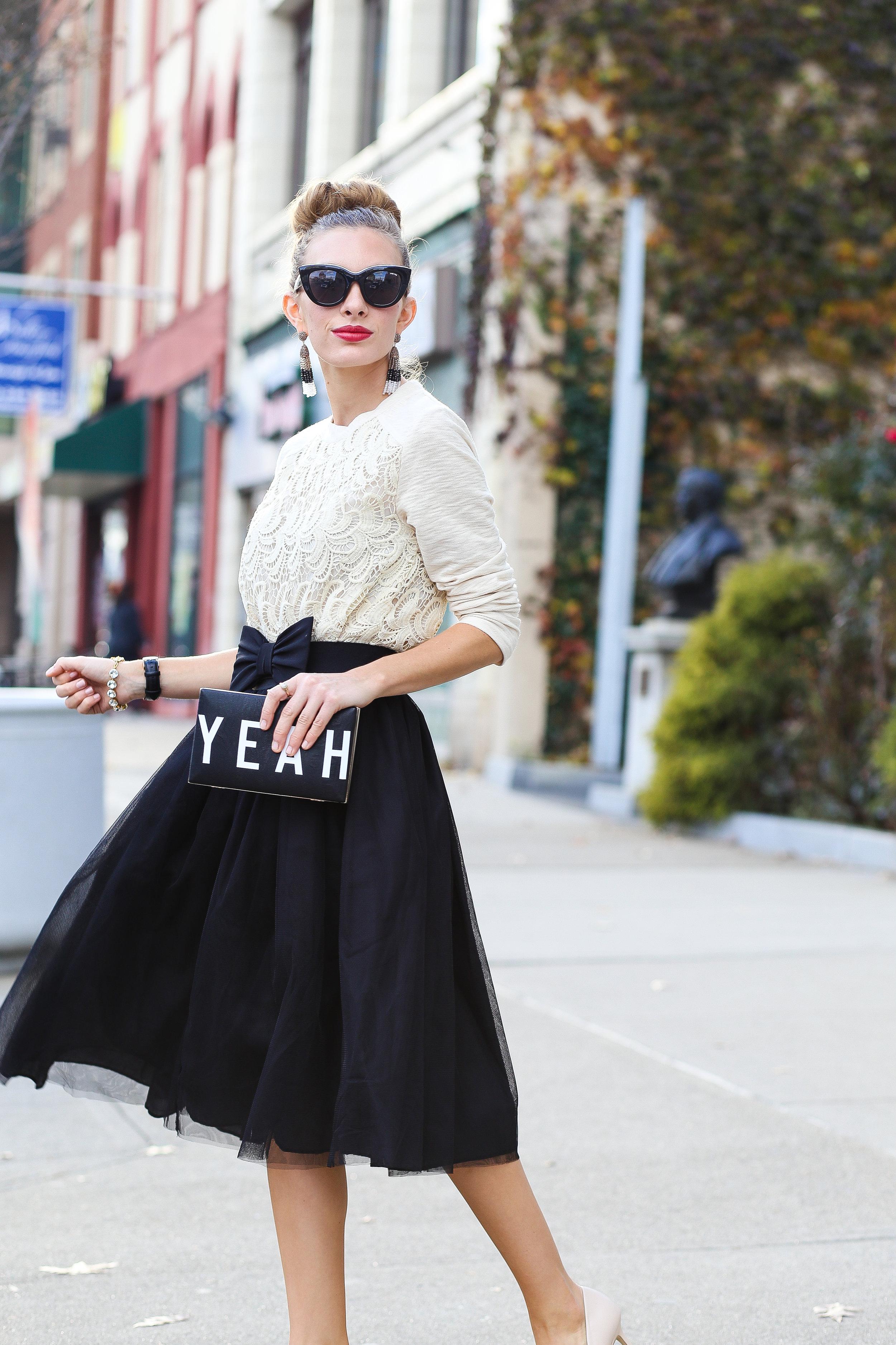 Creamy Crochet And Tulle- Enchanting Elegance