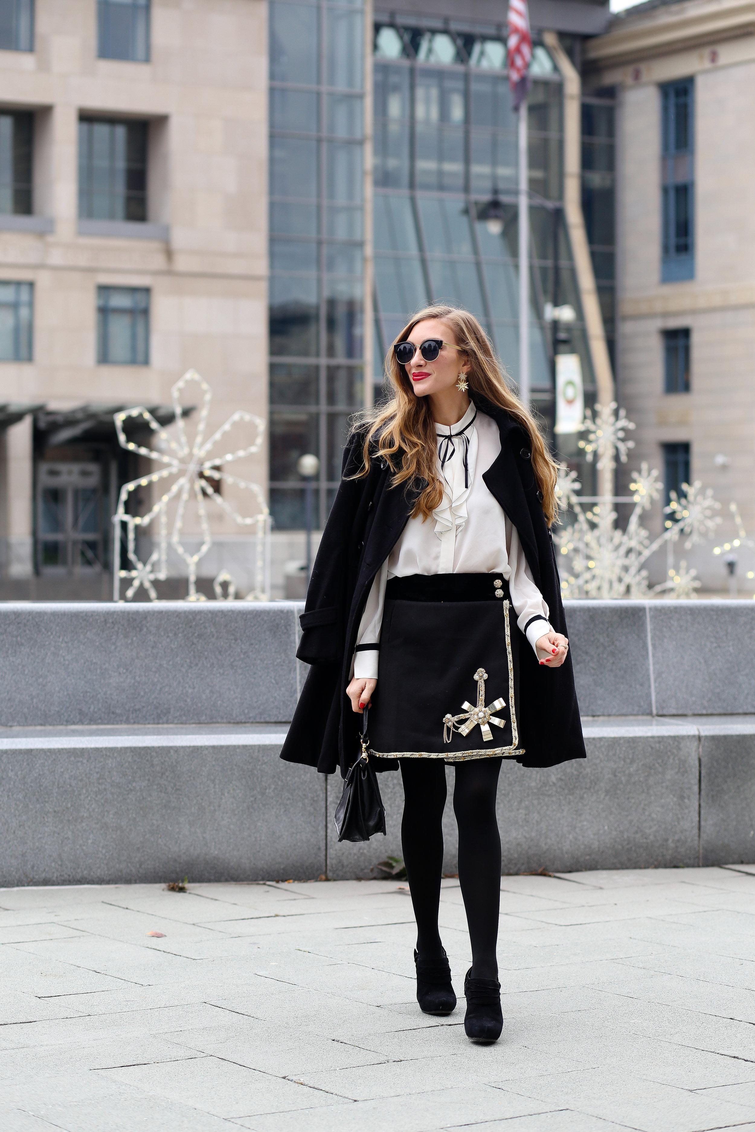 Embellished Skirt- Enchanting Elegance