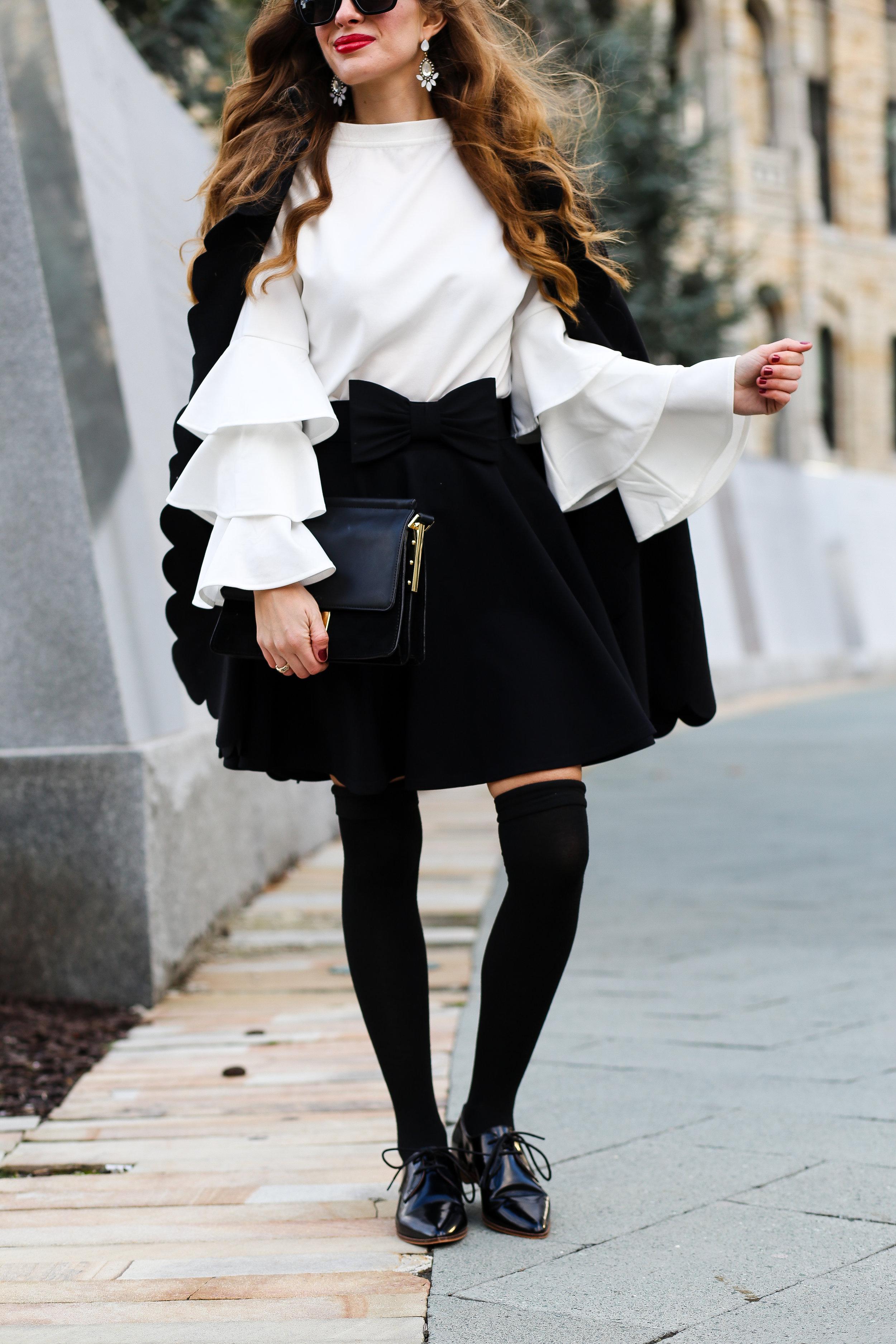 Bell Sleeves & Cape- Enchanting Elegance
