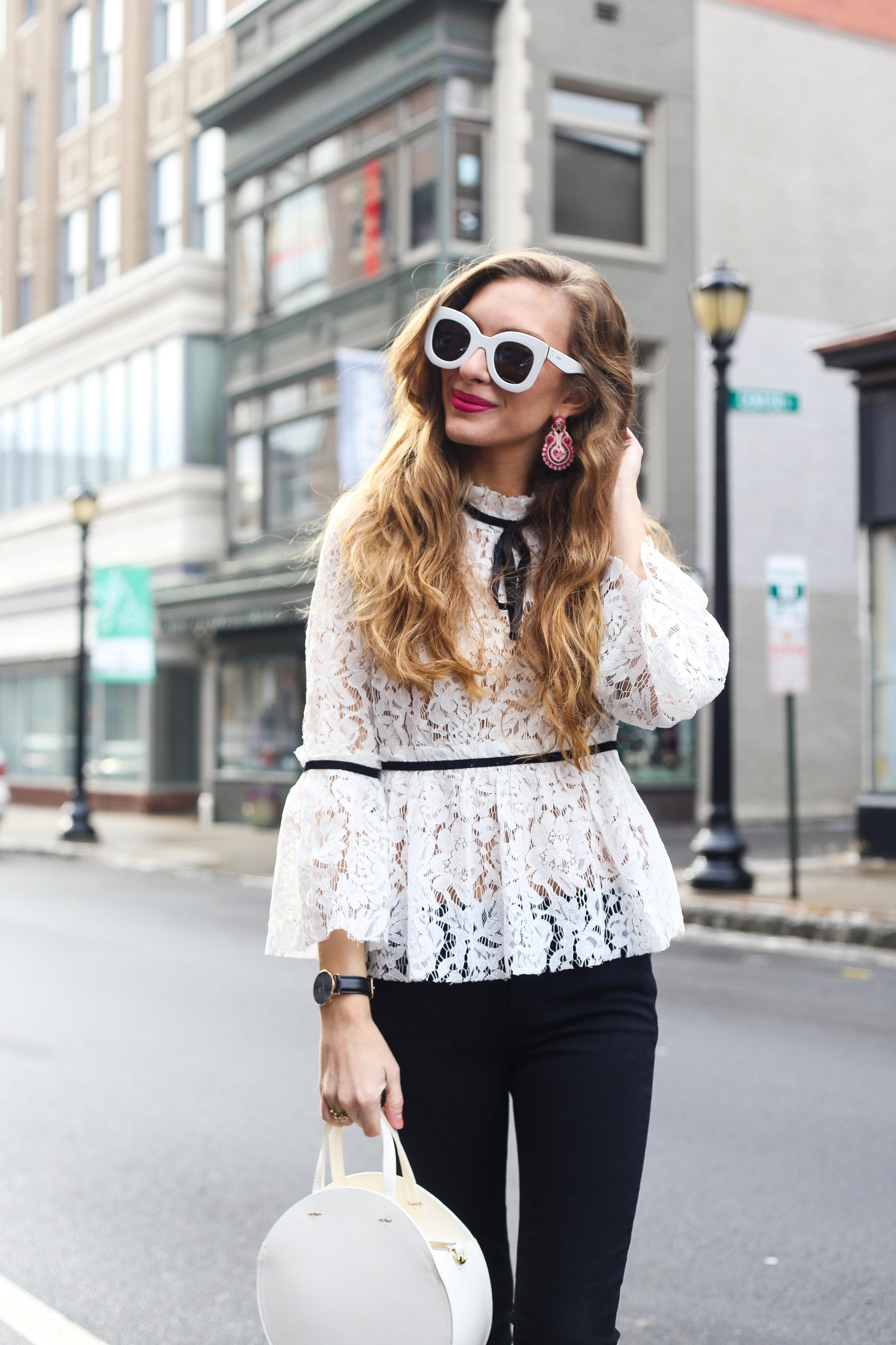 Winter White Lace- Enchanting Elegance