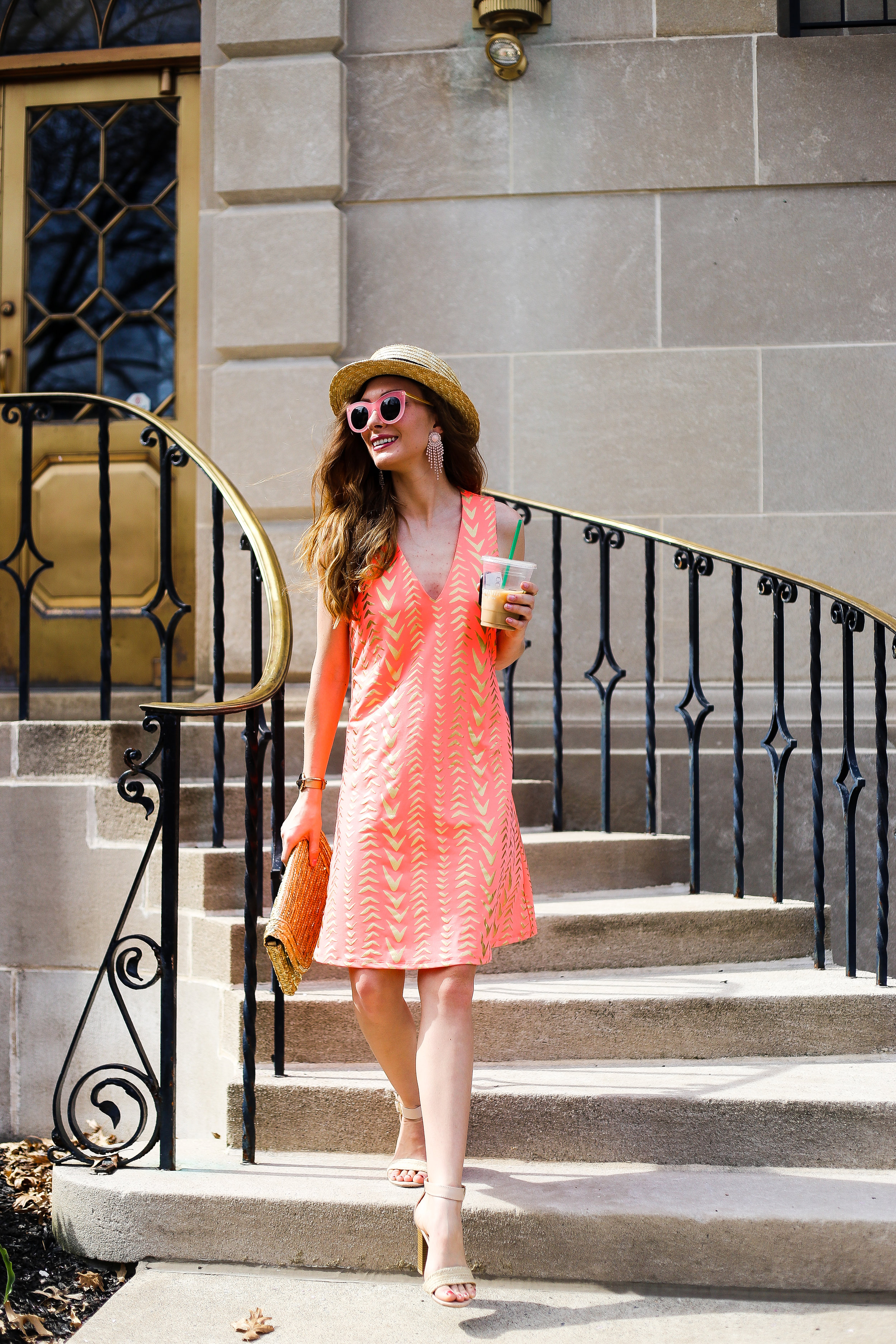 Sunny Days Ahead // Neon Metallic Dress- Enchanting Elegance