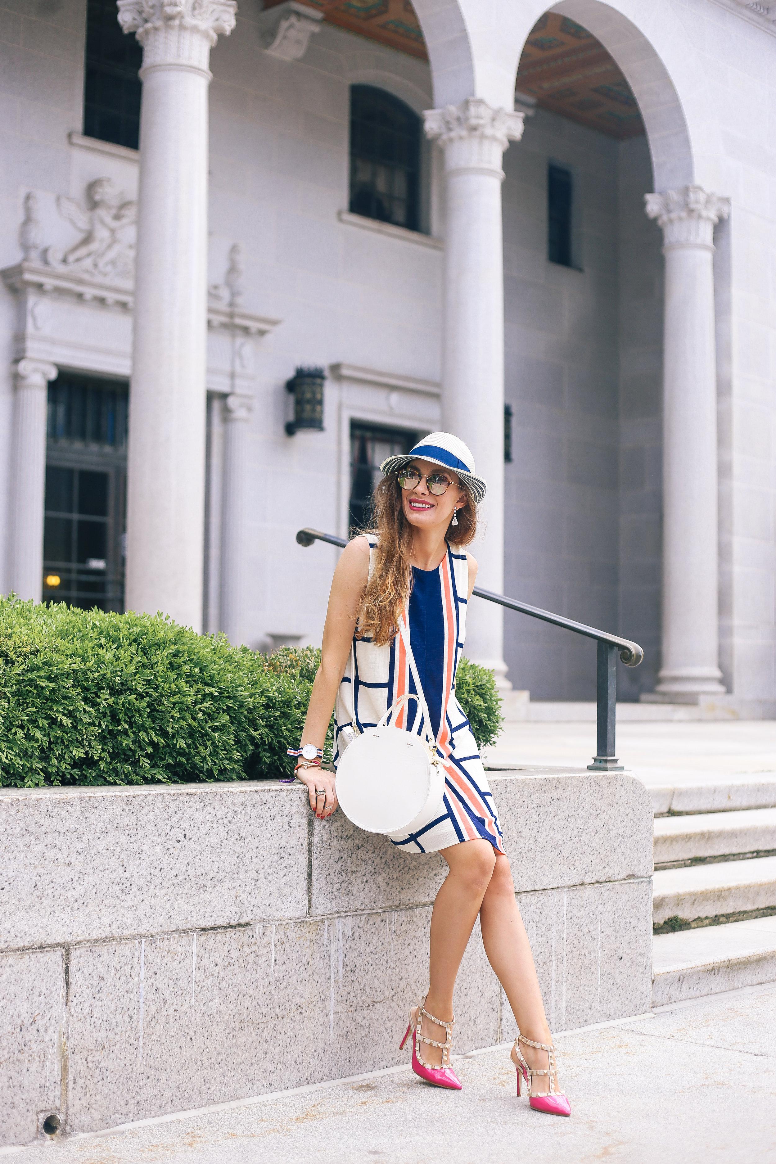 Colorful Windowpane Dress- Enchanting Elegance