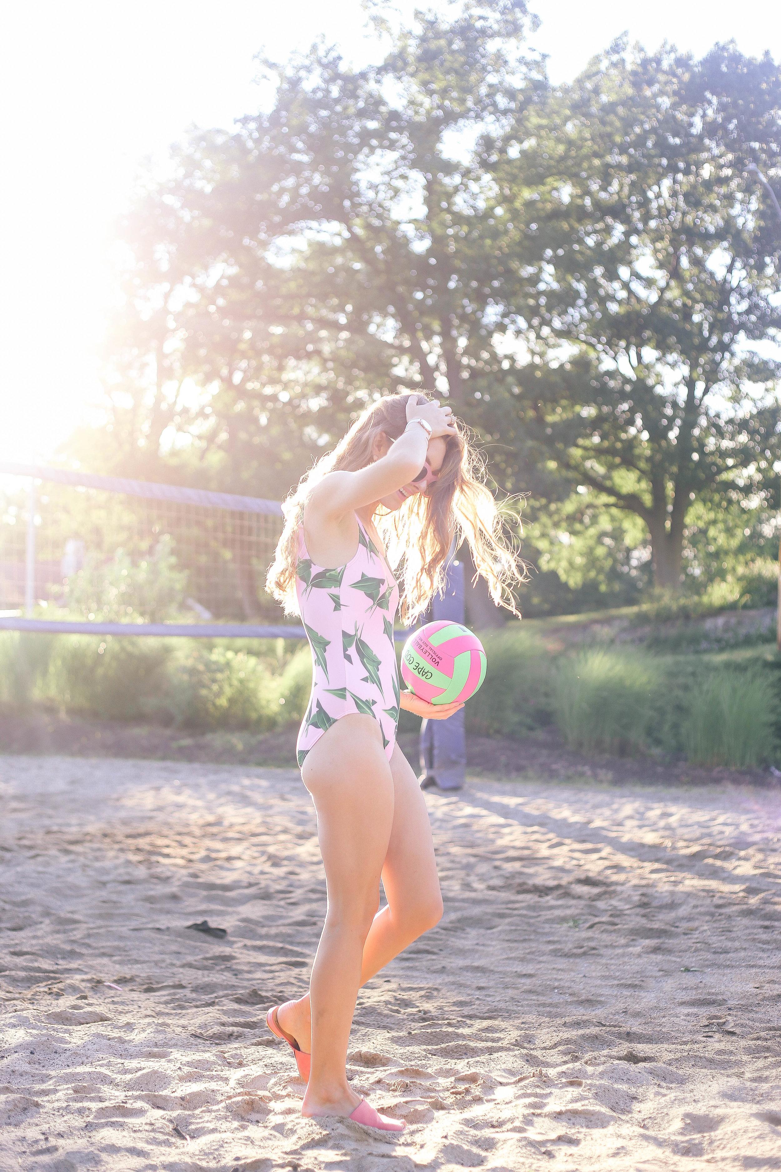 Palm Print Swimsuit- Enchanting Elegance