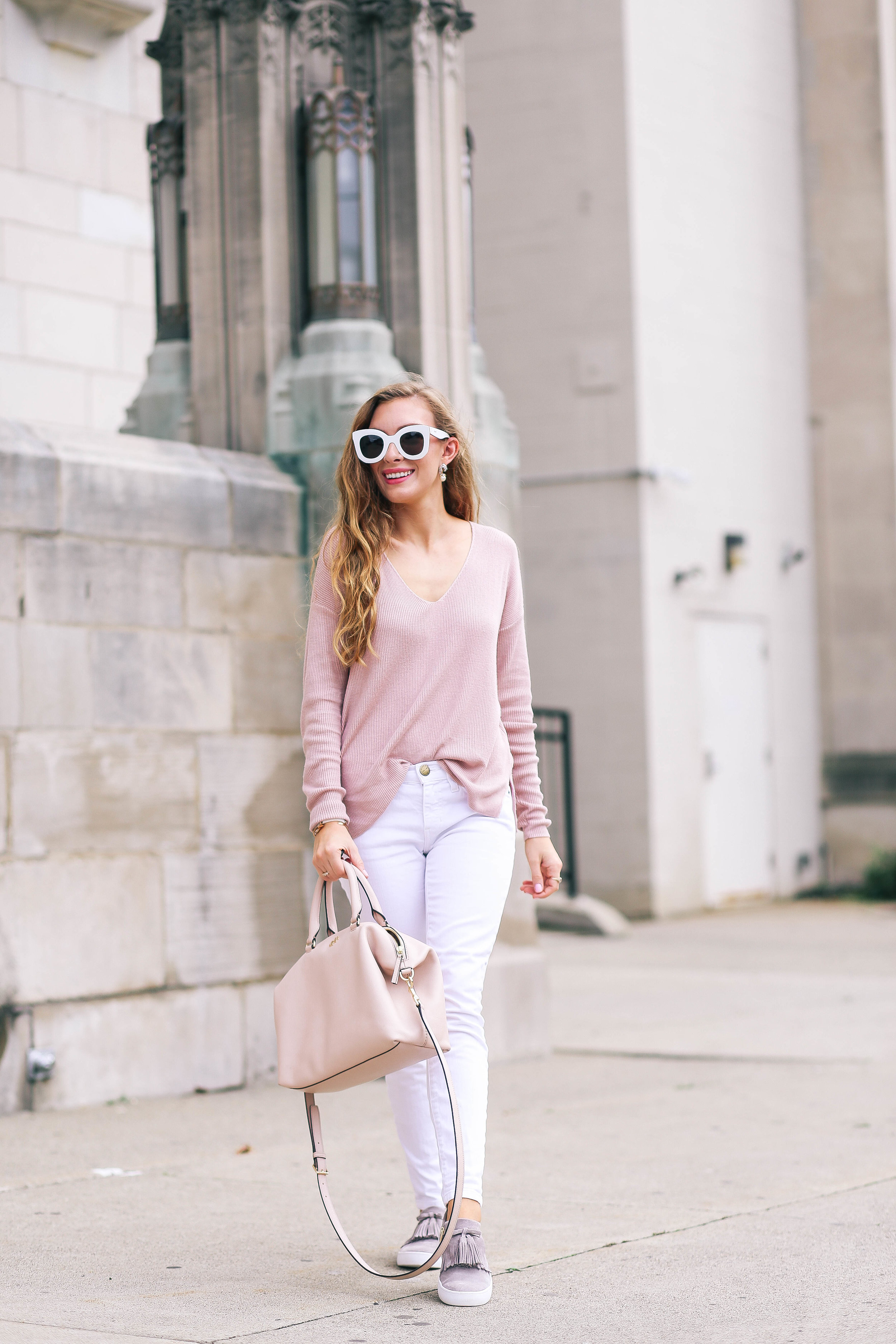 Cozy Weekend In Blush, Gray, and White- Enchanting Elegance