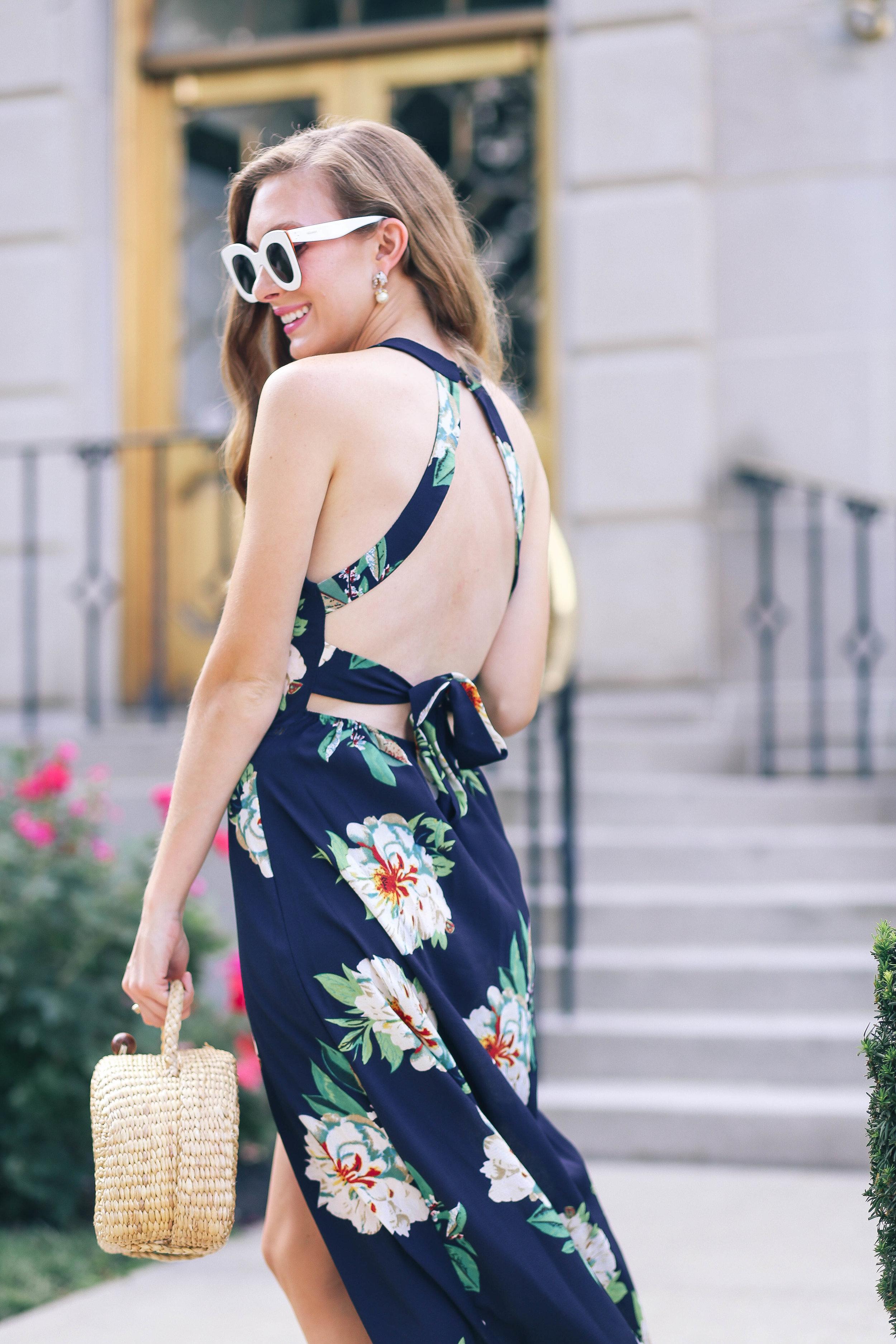 The Floral Maxi Dress- Enchanting Elegance