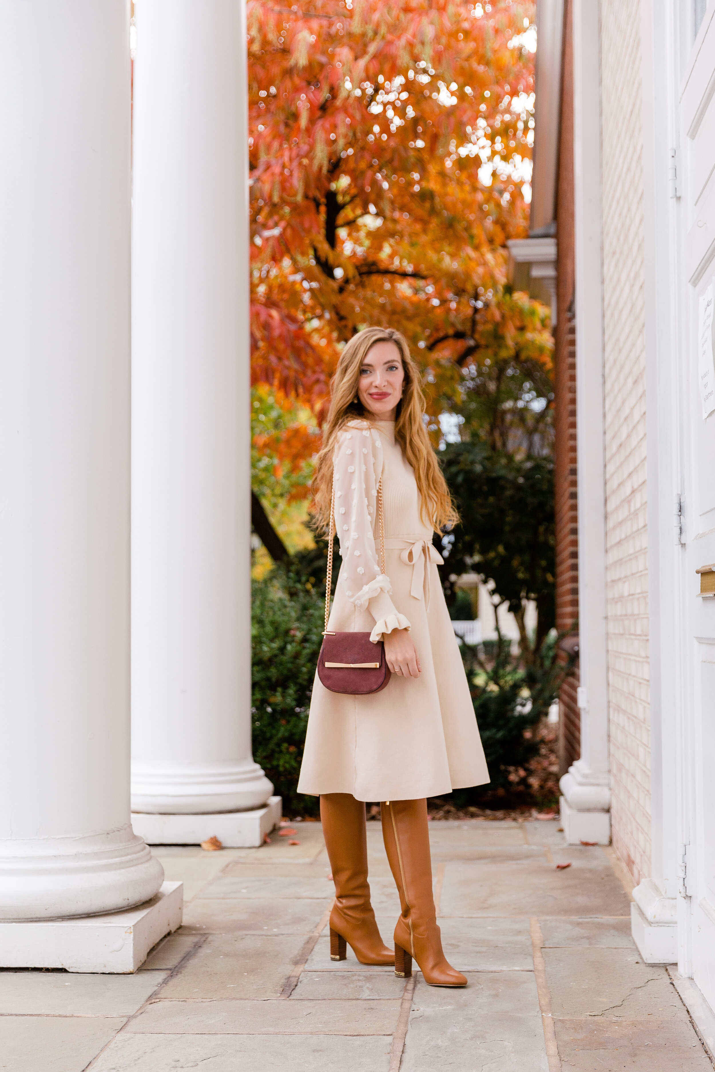 Cream Sweater Dress- Enchanting Elegance