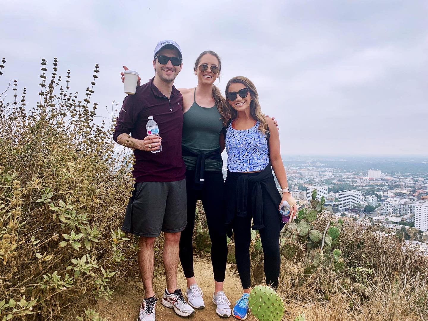 John Thomas, me and Staci on Runyon Canyon Summit. Perfect way to start our LA morning!