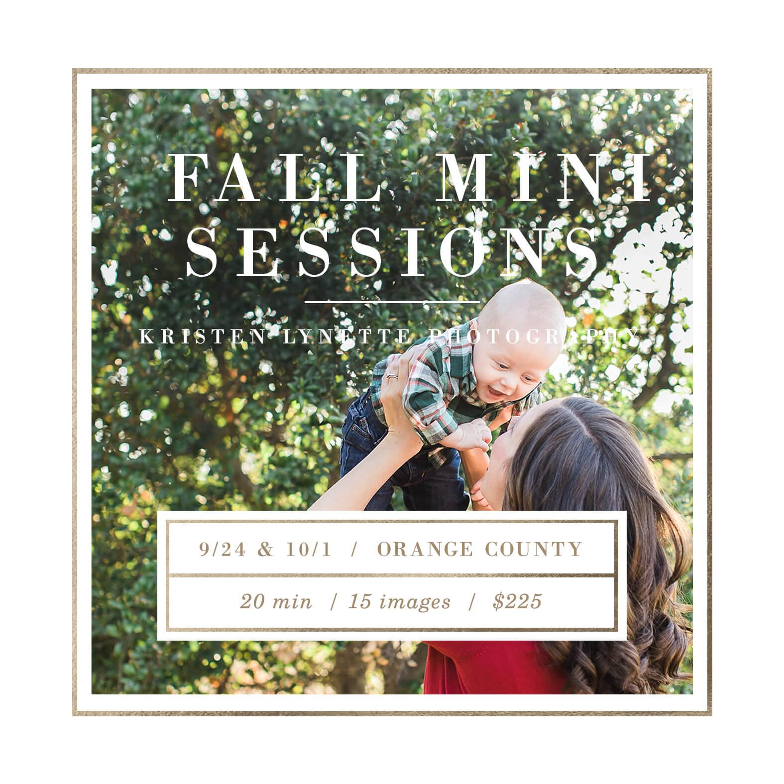 Orange County Fall Mini Sessions