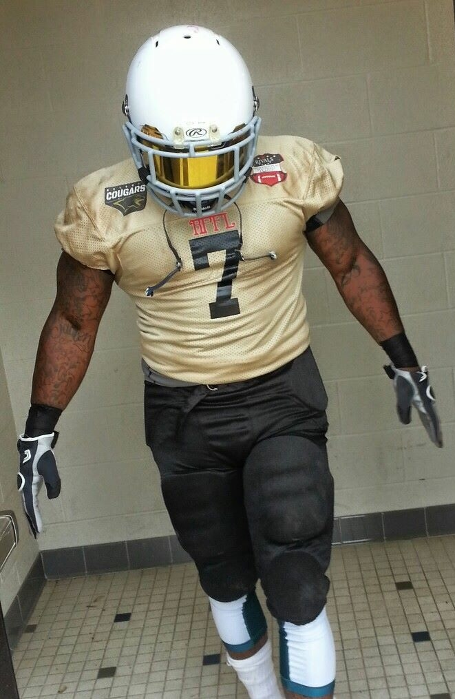 Kris in 2014 with the Detroit cougars of the rpfl.