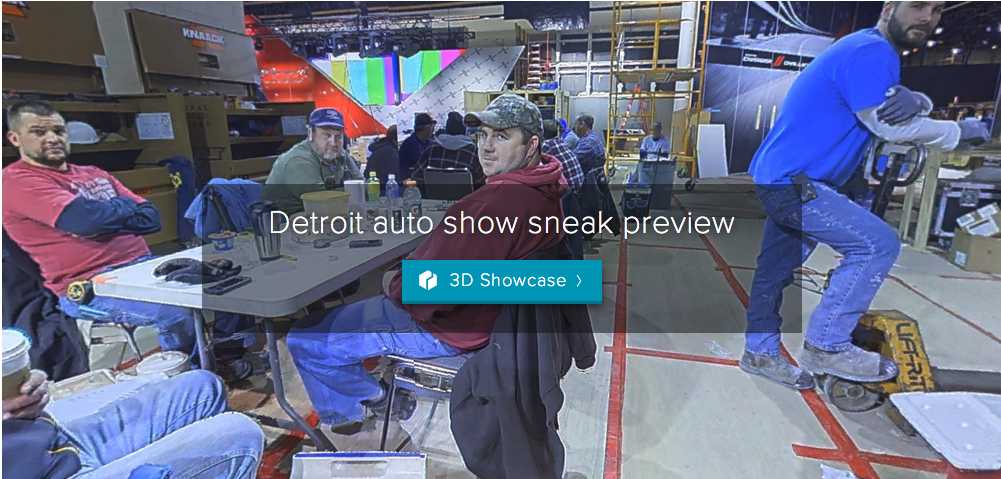 Check out our VERY FIRST test 3D tour of the Detroit auto show under construction. We did this in January of 2015.