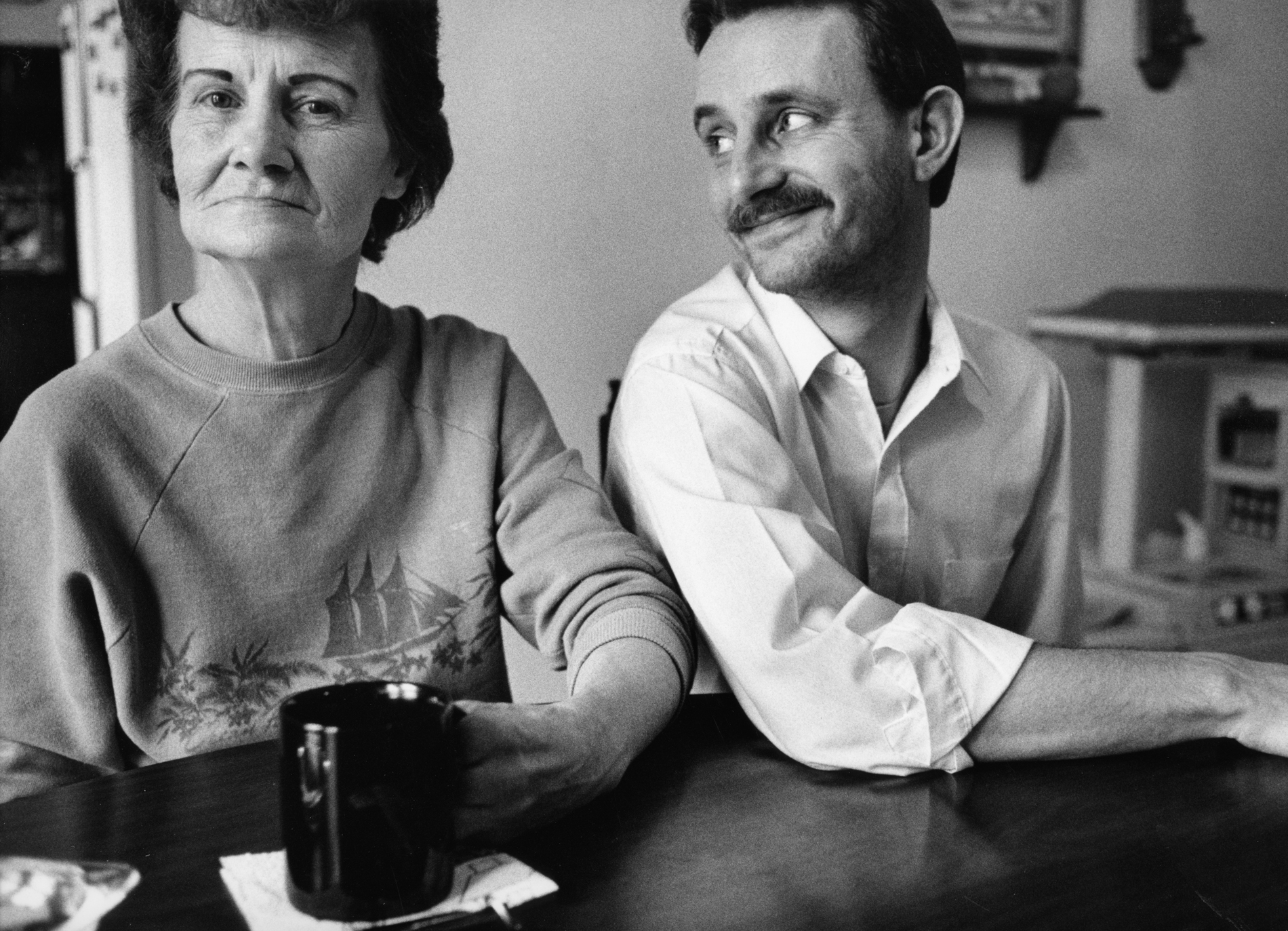 John Blansett and his mother, Ann,  have lunch together every day. They were photographed in 1993 in  in Okolona, Mississippi.