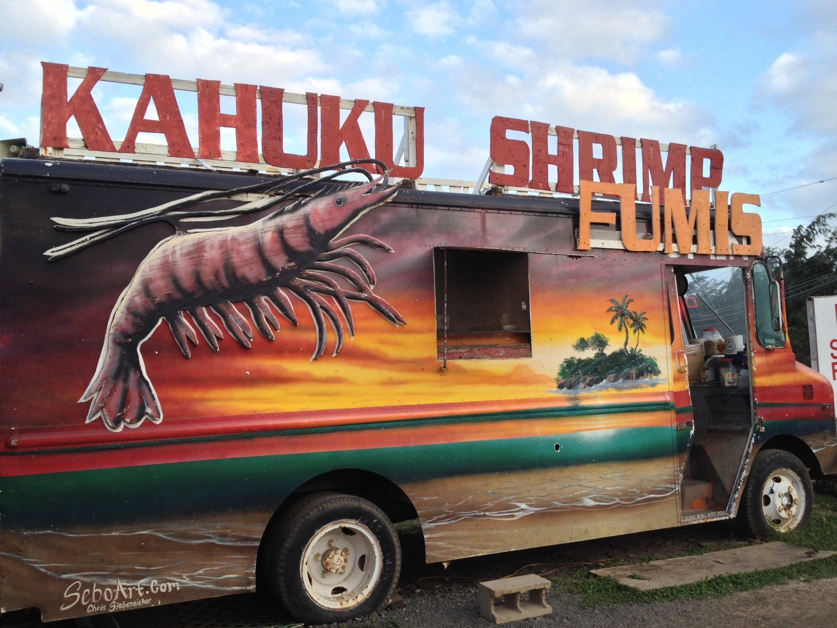 This was like the fifth shrimp truck