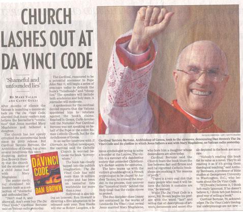 Praise da lawd for Da Vinci didn't write da bible