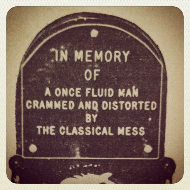 Tombstone of Fluid Man