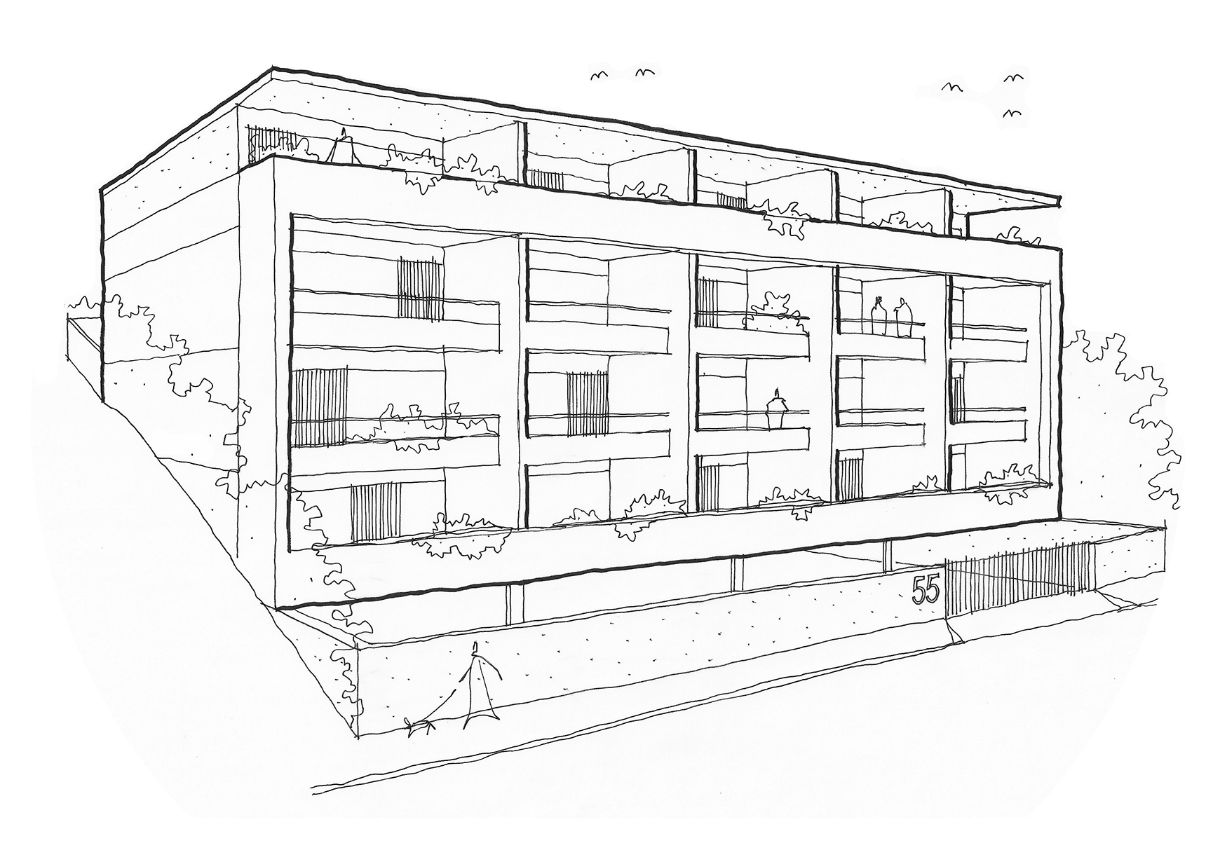 55HL sketch perspective B&W.jpg