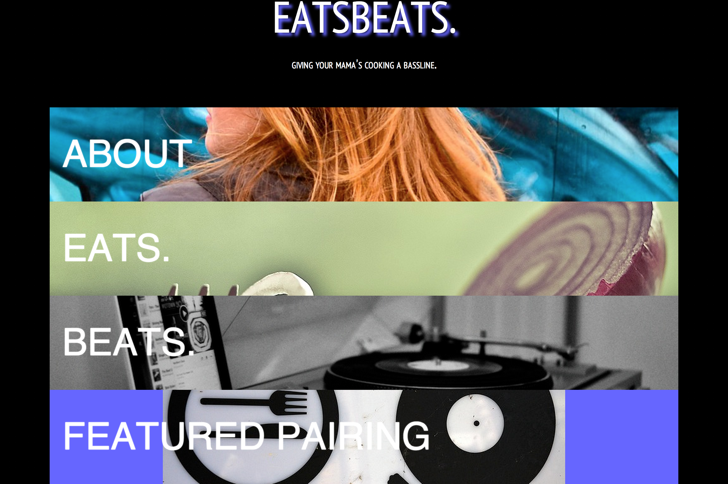 A website that suggests food and music pairings. Completely designed by Natalie Morin, includes jQuery plugin.