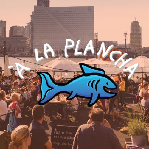 A La Plancha   A La Plancha is een pop-up visrestaurant gevestigd op het het  Noordereiland  in Rotterdam. Vanaf het terras heb je een geweldig uitzicht over het water en de skyline van de stad. Het restaurant is alleen open in de zomer bij mooi weer. In 2019 vanwege werkzaamheden aan de kade gesloten.