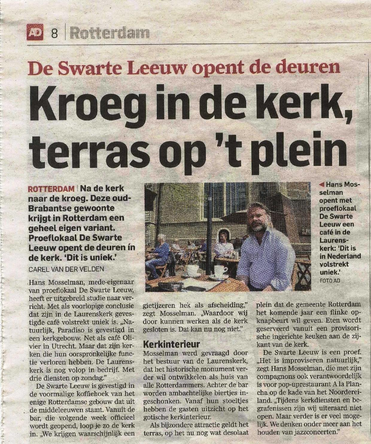 AD Rotterdams Dagblad -23 mei 2015