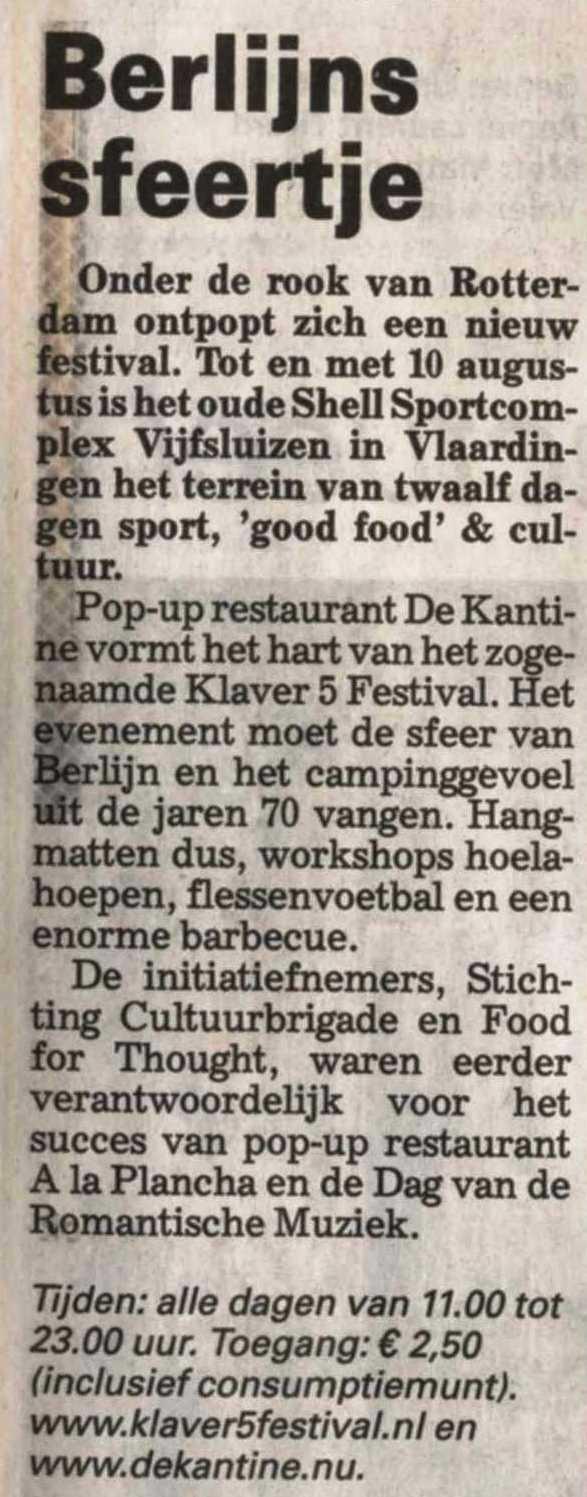 Telegraaf - 31 juli 2014