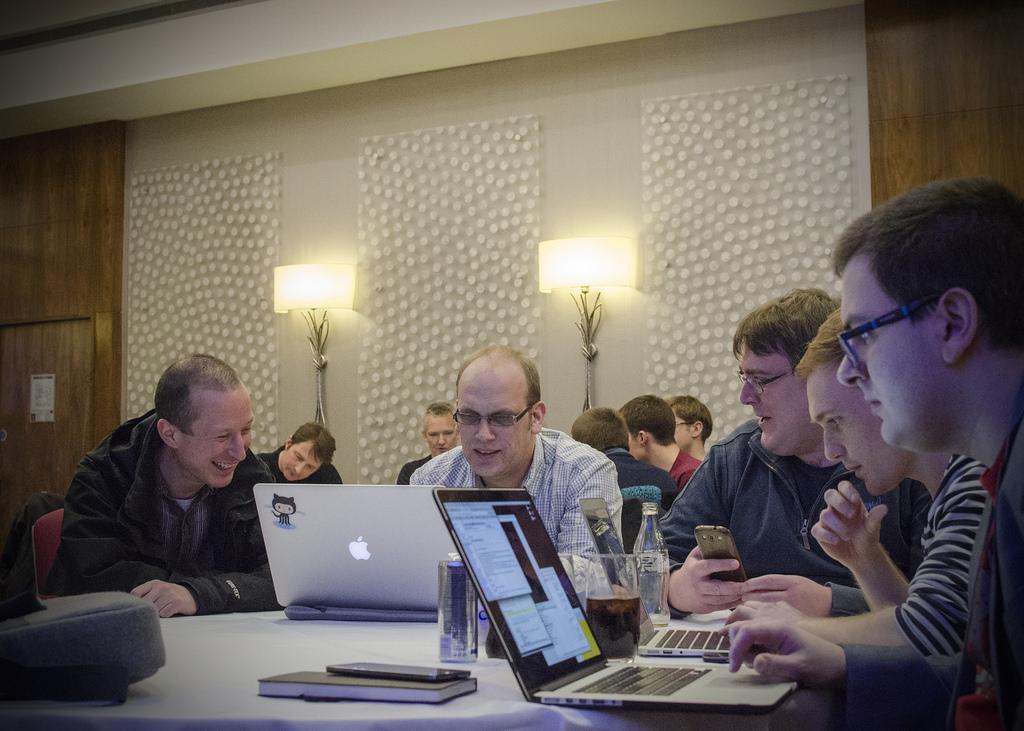 Tech Nottingham attendees enjoying a bit of coding