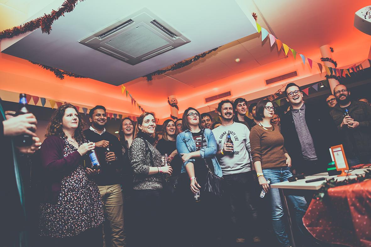 The party kicking-off at the NVA