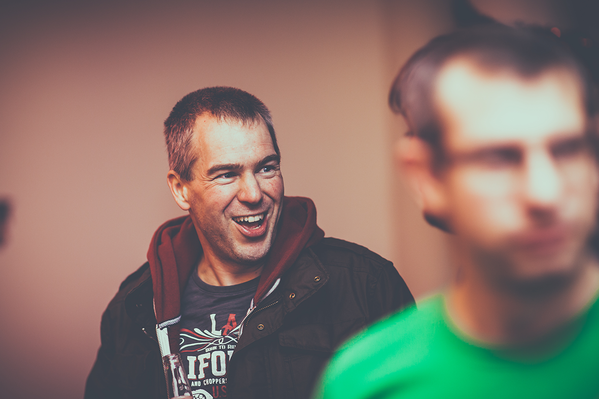 Paul,Head of Development at Esendex, having fun