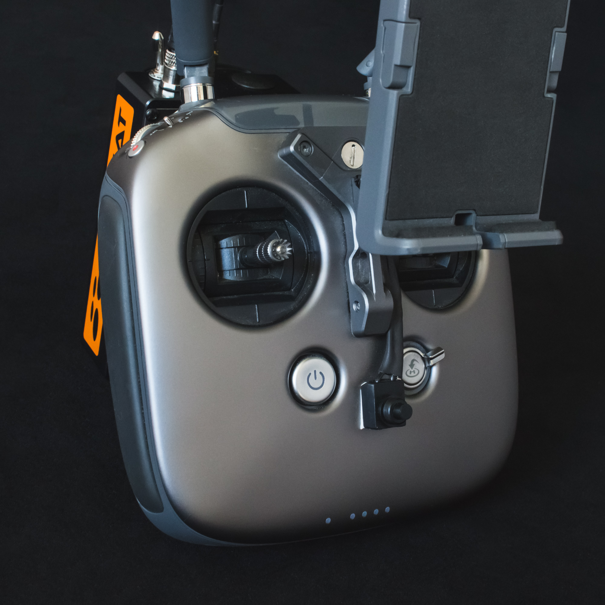 Eject button within reach - The eject button is within immediate reach, under the pilot's thumb.For multiple RC controllers, add one additional external button for each controller, and one additional receiver for each copter.